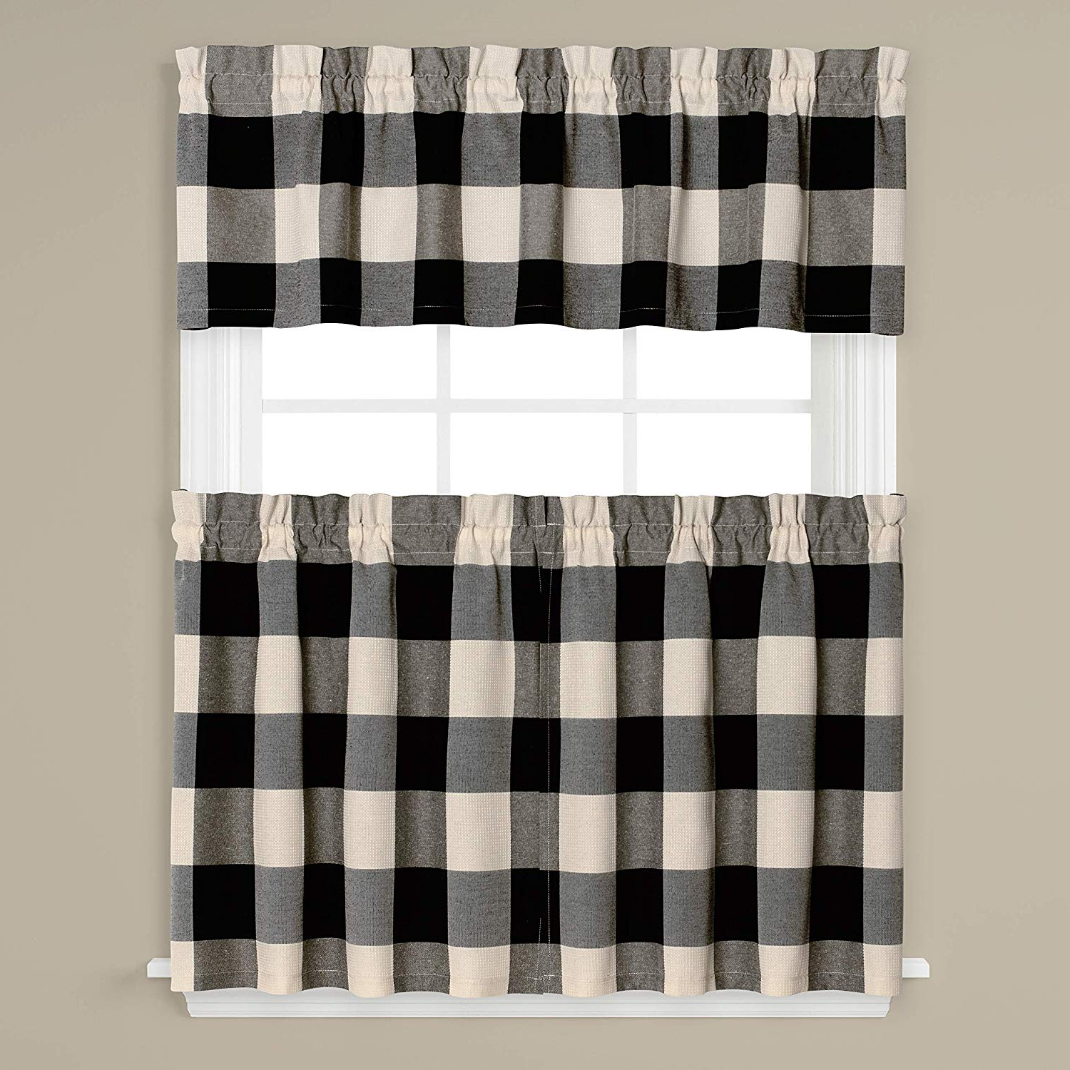 Grandin Curtain Valances In Black For 2020 Skl Homesaturday Knight Ltd (View 2 of 20)