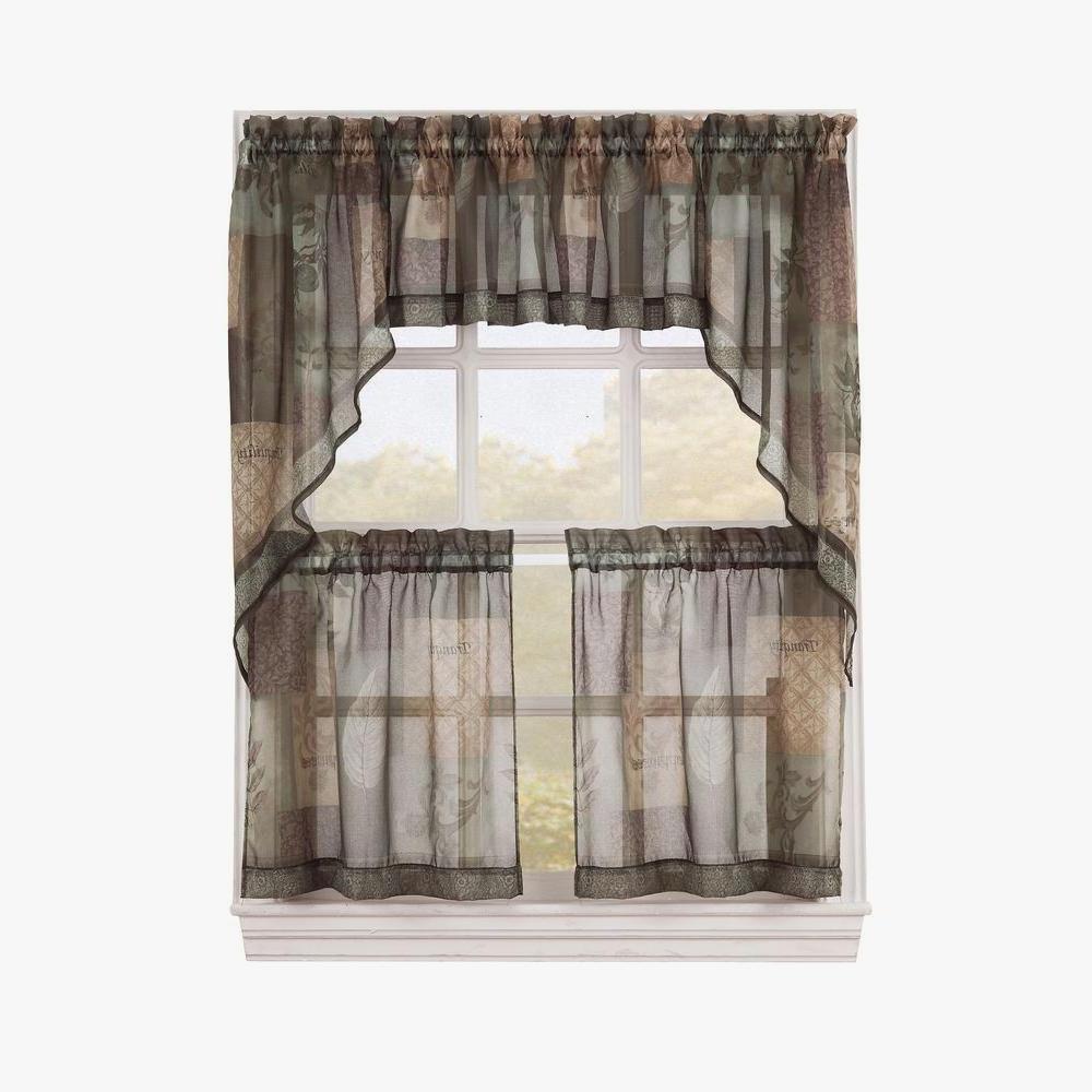 Gratifying Green Kitchen Curtains – Camata (View 18 of 20)