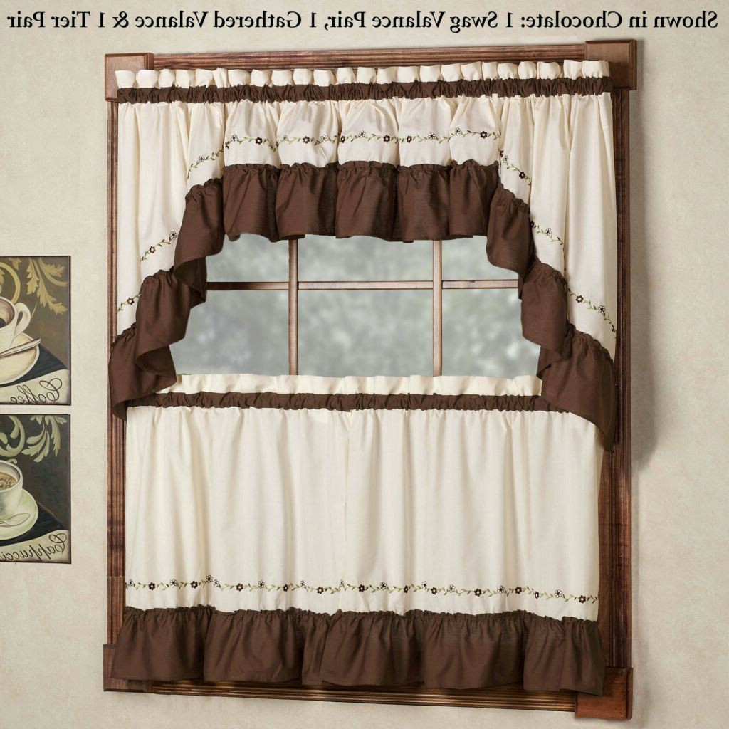 Hopscotch 24 Inch Tier Pairs In Neutral Throughout Most Current 30 Inch Door Curtains – Mermaidtailblanket (View 5 of 20)