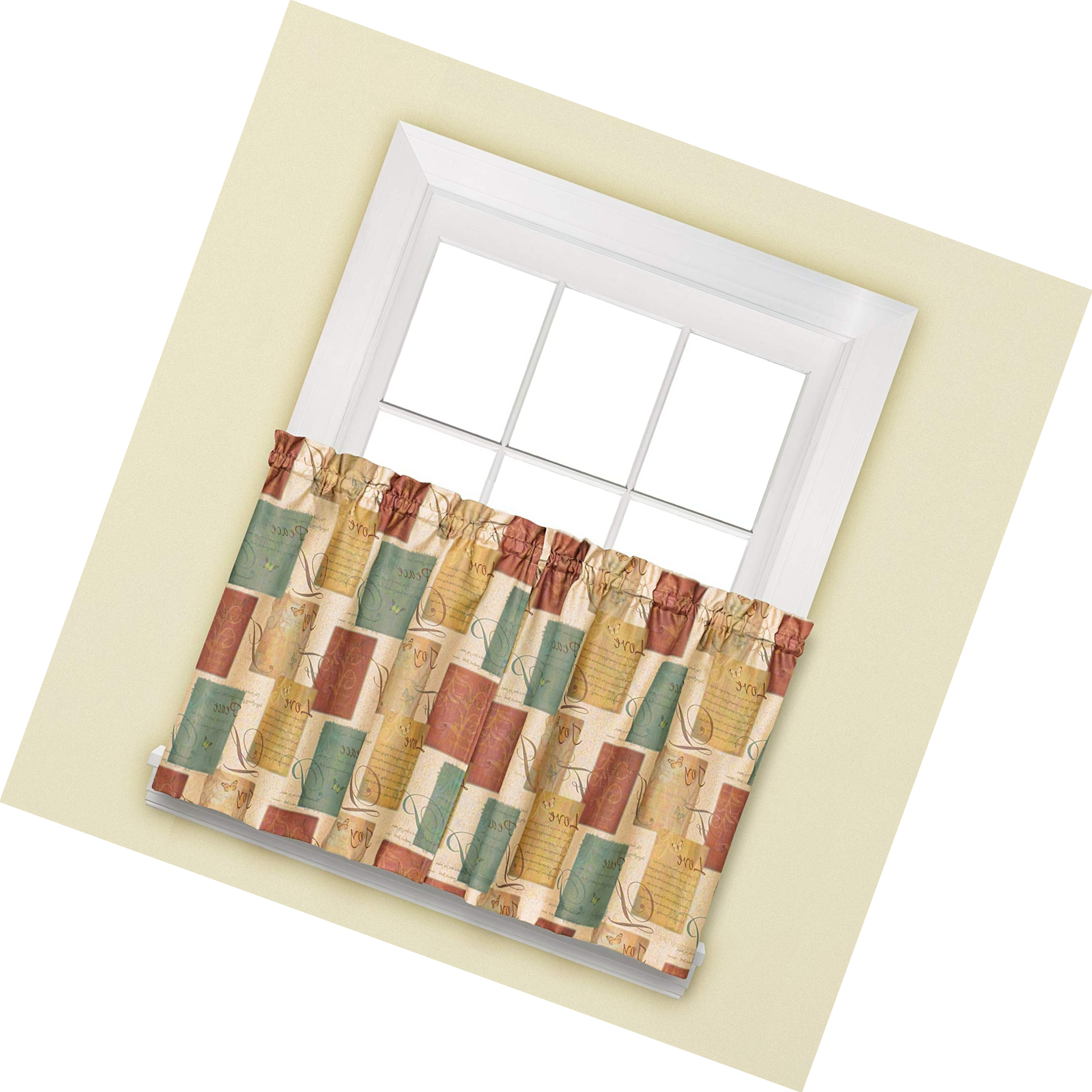 Hopscotch 24 Inch Tier Pairs In Neutral With Regard To Current Details About Skl Home Tranquility Tier Curtain Pair, Spice, 58 Inches X 24  Inches (Gallery 12 of 20)