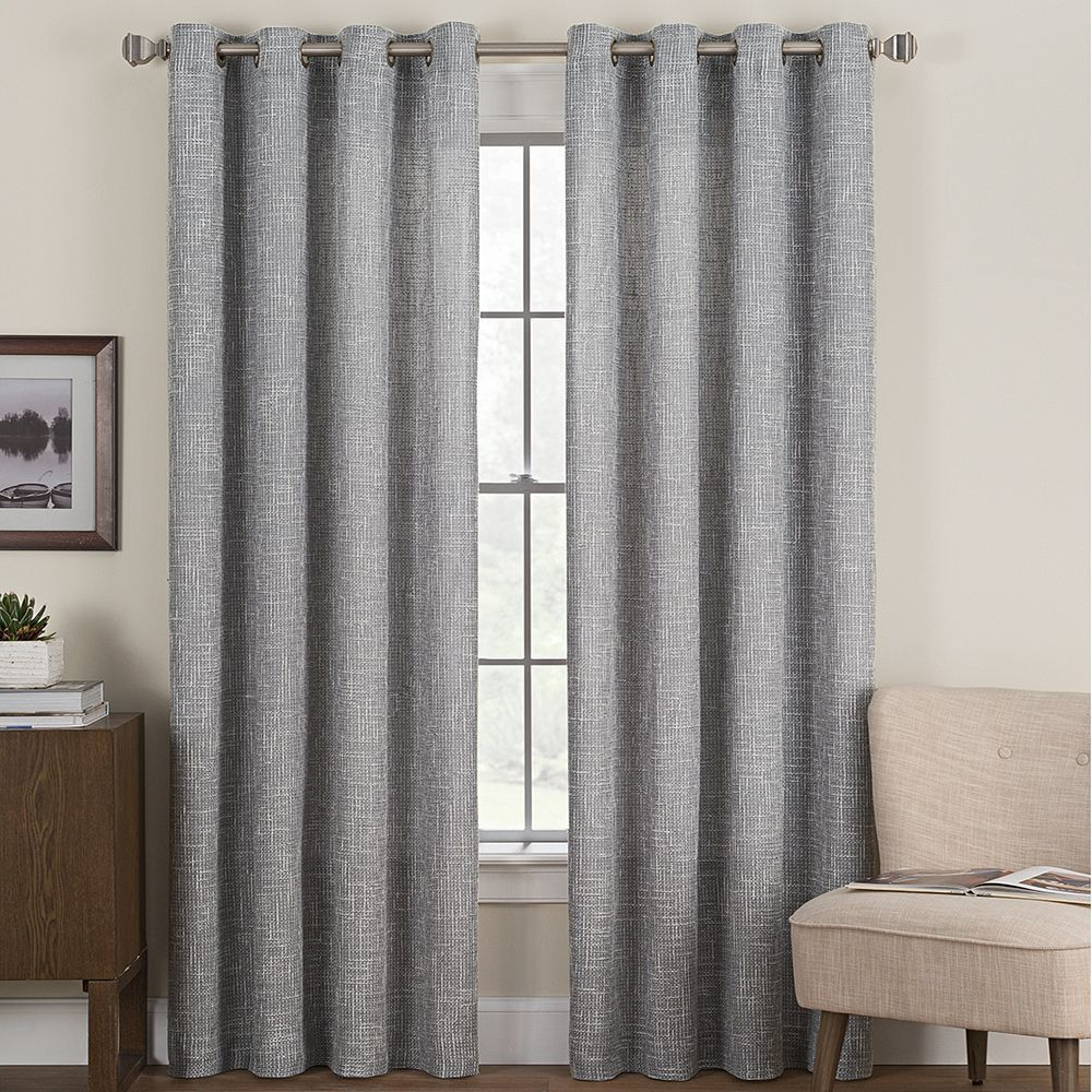 Hudson Hill 1 Panel Cooper Window Curtain, Grey, 50X84 In Inside Most Popular Hudson Pintuck Window Curtain Valances (View 10 of 20)