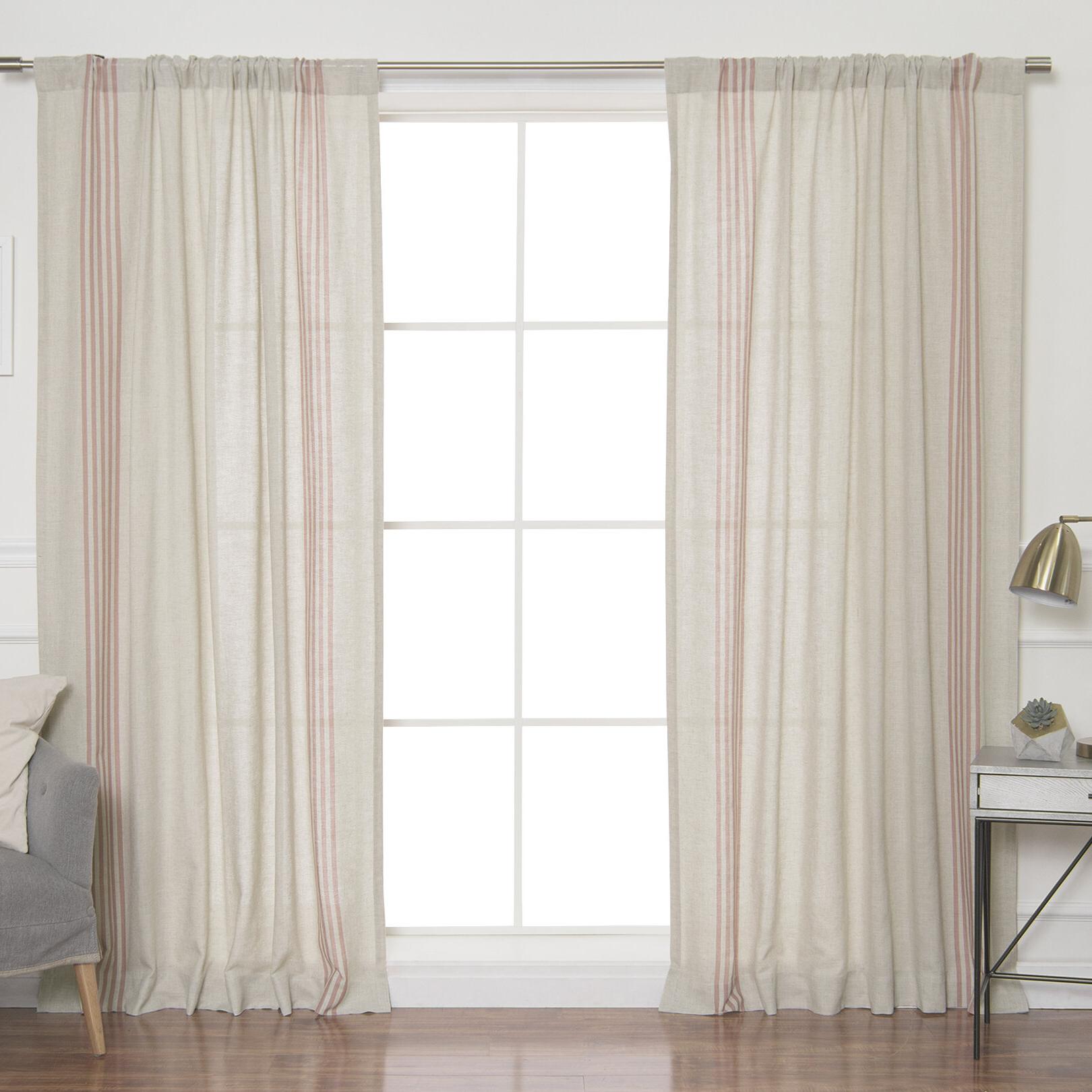 Ivory Micro Striped Semi Sheer Window Curtain Pieces Regarding Trendy Bateman Striped Sheer Rod Pocket Curtain Panels (View 15 of 20)