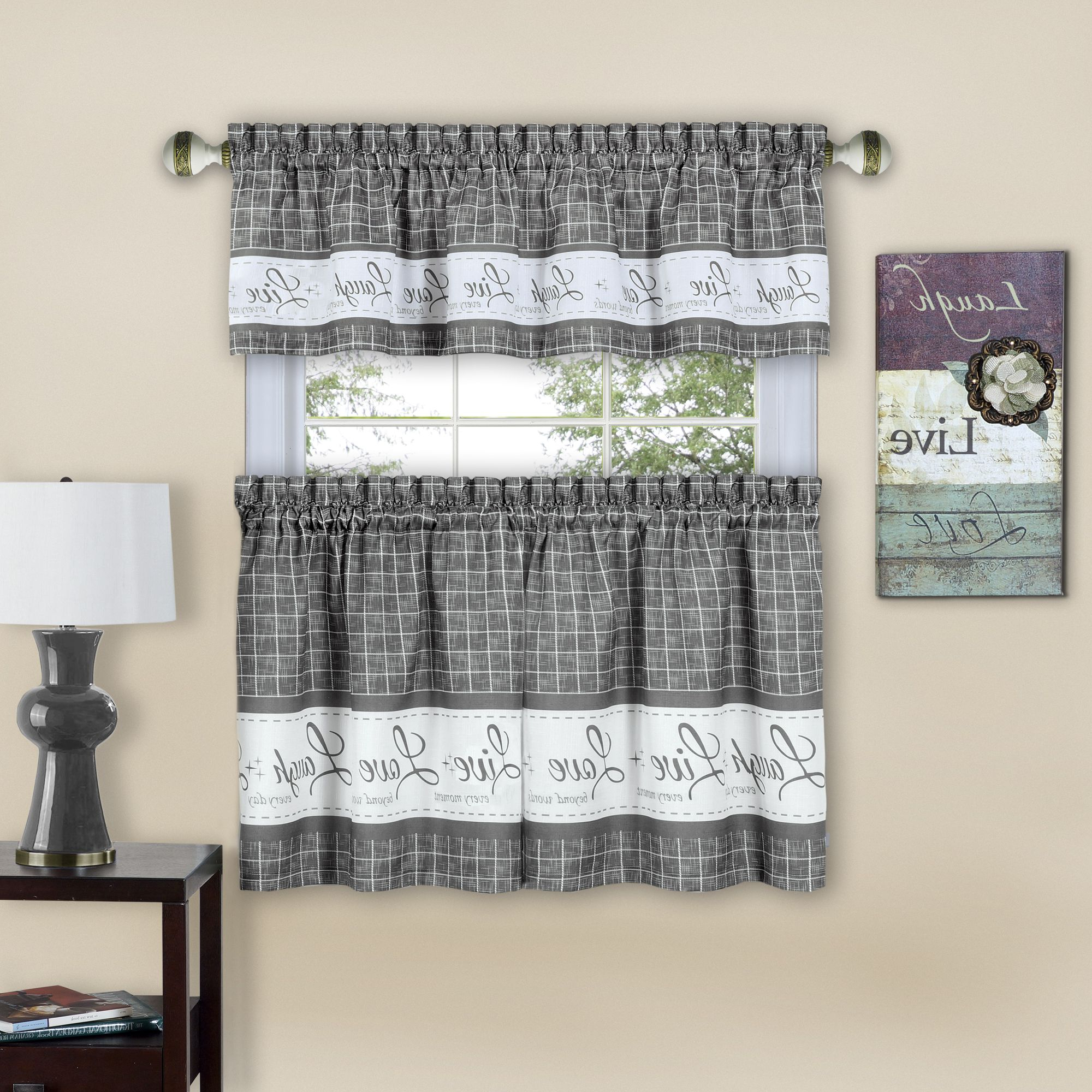 Kitchen Curtain Sets, Curtains, Kitchen Inside Kitchen Curtain Tiers (View 4 of 20)