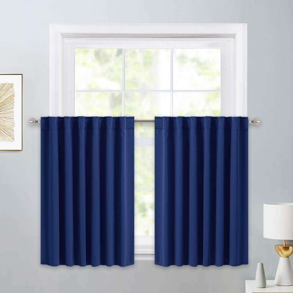 Kitchen Curtain Tiers Throughout Newest Pony Dance Kitchen Curtain Tier – Rod Pocket Blackout Panels Window  Covering Small Curtains Tailored Tiers/valances For Kitchen, W 52 X L 36  Inches, (Gallery 5 of 20)