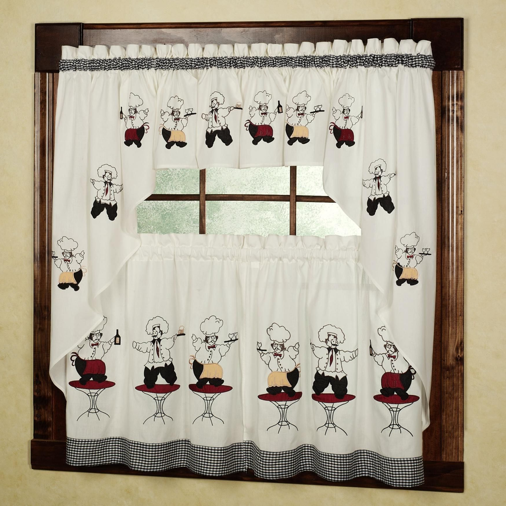 Kitchen Curtains, Chef (Gallery 13 of 20)
