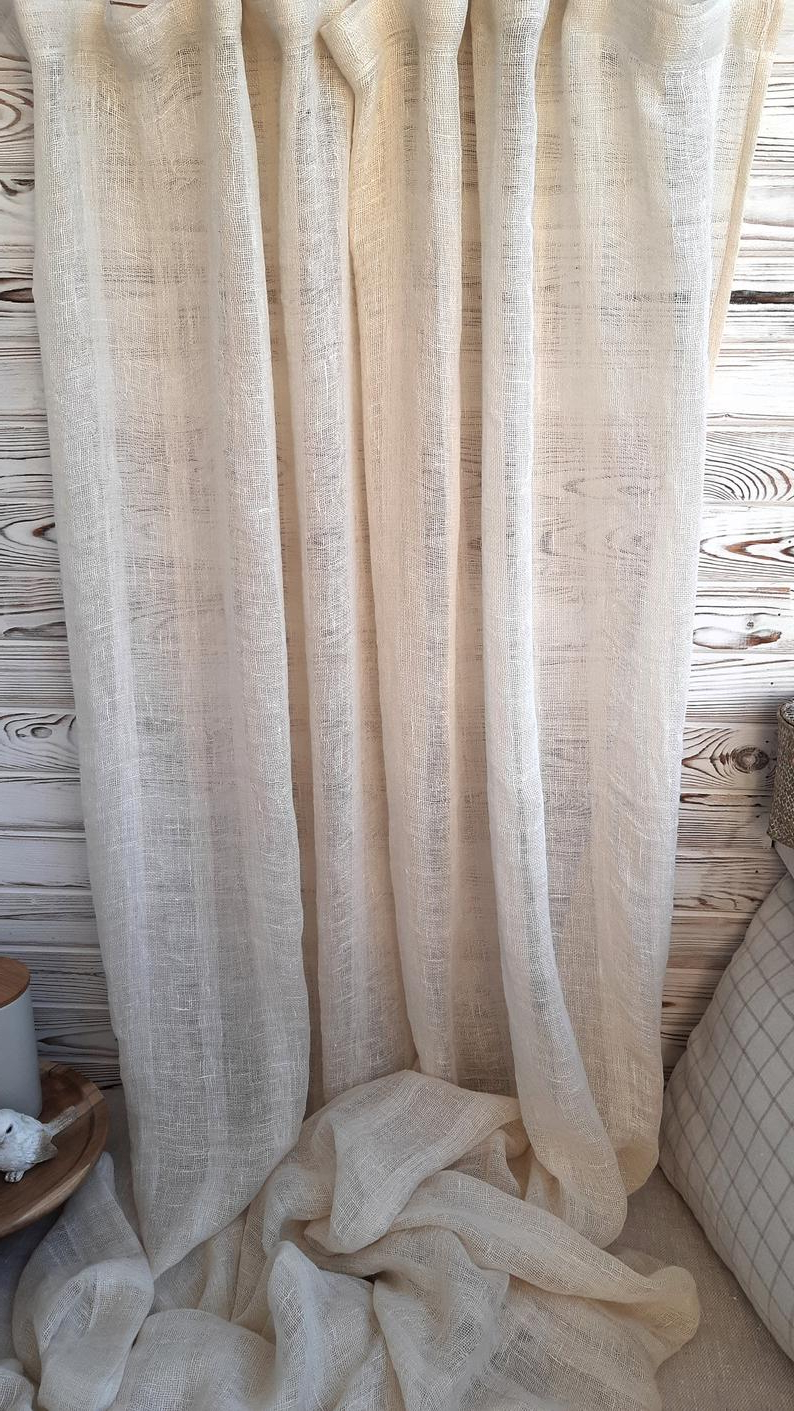 Kitchen Curtains, Linen Curtains Panel, Farmhouse Curtains Panels, Linen Cafe Curtains, Rustic Curtains, Country Curtains Pertaining To Trendy Rustic Kitchen Curtains (View 15 of 20)