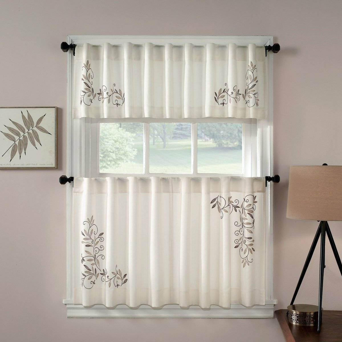 Kitchen Window Tier Sets Regarding Most Up To Date Kitchen Window Valances Target Country Bay Drapes Doors (View 8 of 20)