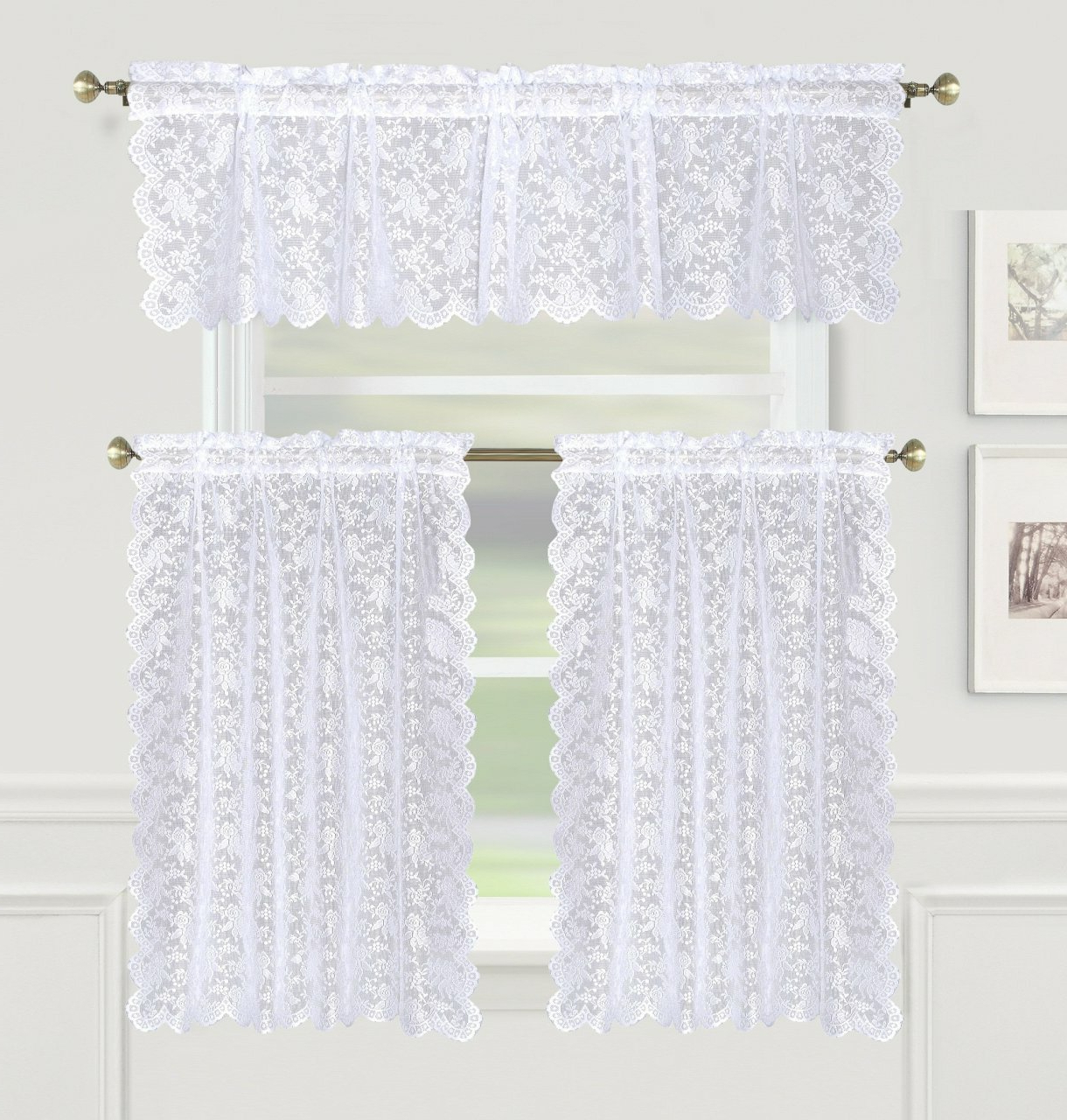 Lace Tier Curtains – V9oj Intended For Newest Elegant White Priscilla Lace Kitchen Curtain Pieces (View 15 of 20)