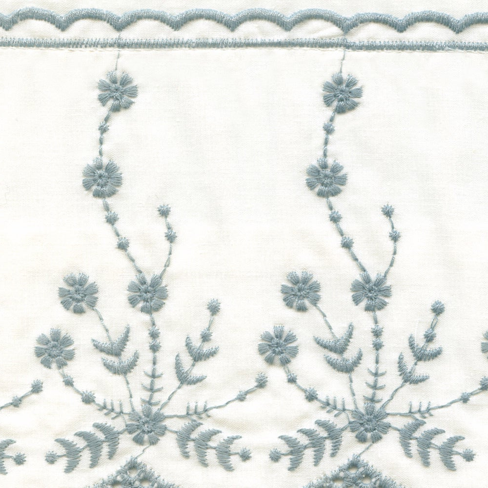 Latest Abby Embroidered 5 Piece Curtain Tier And Swag Set Pertaining To Abby Embroidered 5 Piece Curtain Tier And Swag Sets (View 2 of 20)