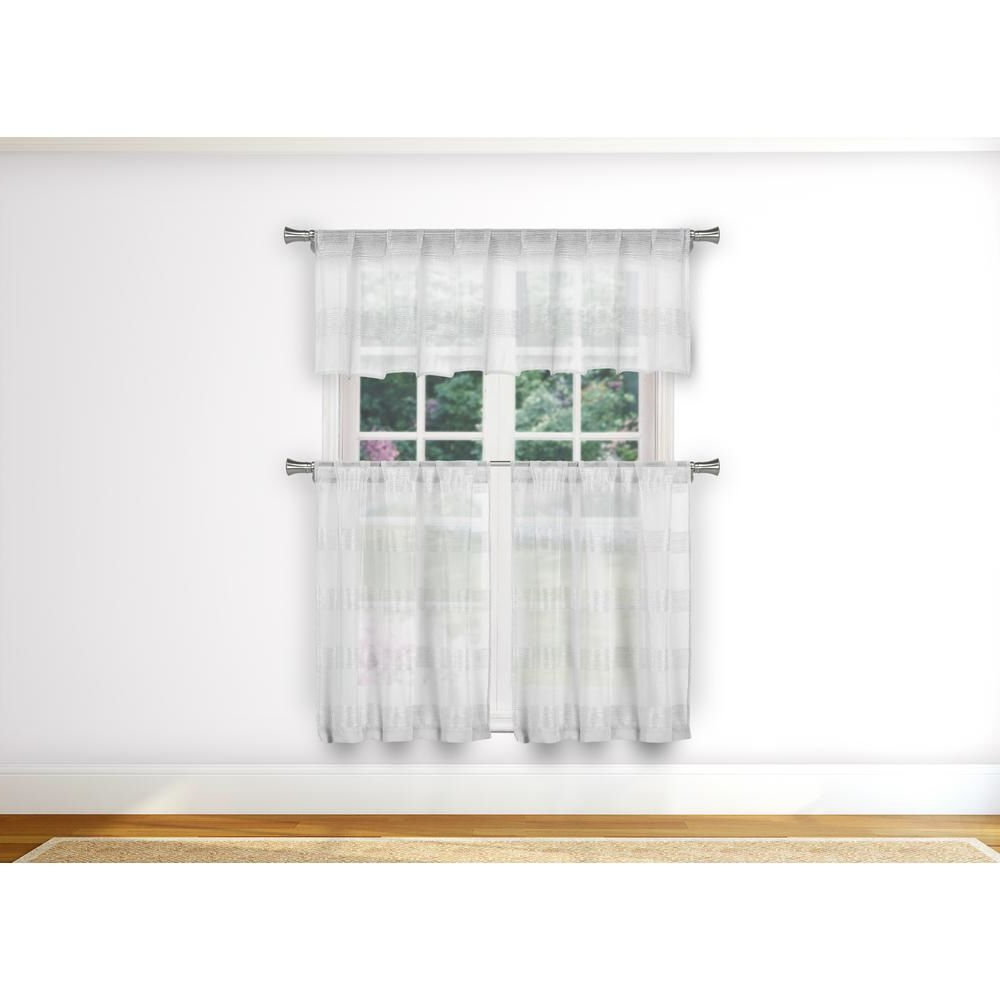 Latest Duck River Loretta Kitchen Valance In Tiers/white – 15 In (View 20 of 20)