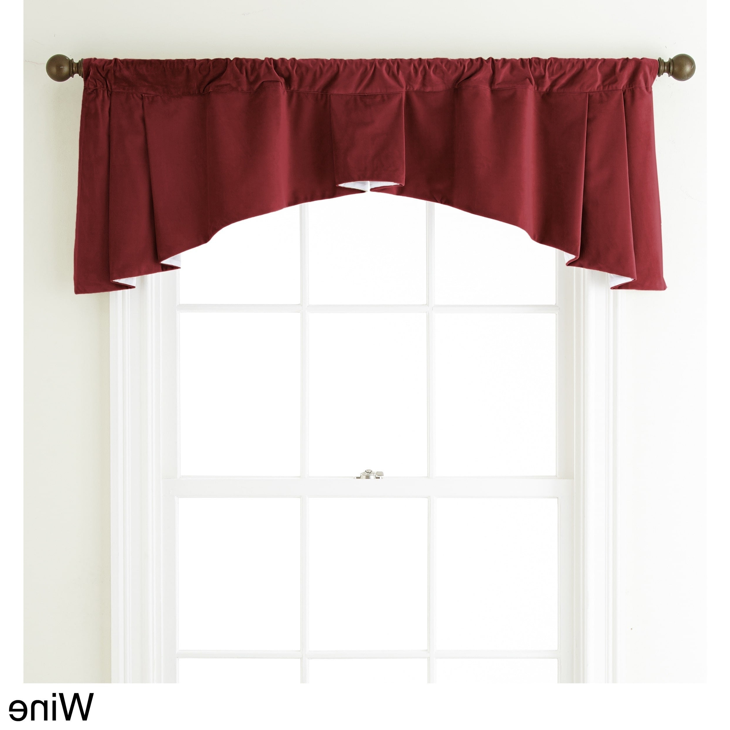 Latest Flinders Forge 30 Inch Tiers In Garnet Regarding Grand Avenue Remedy 54 X 20 Inch Solid Curtain Valance – 54 X (View 8 of 20)
