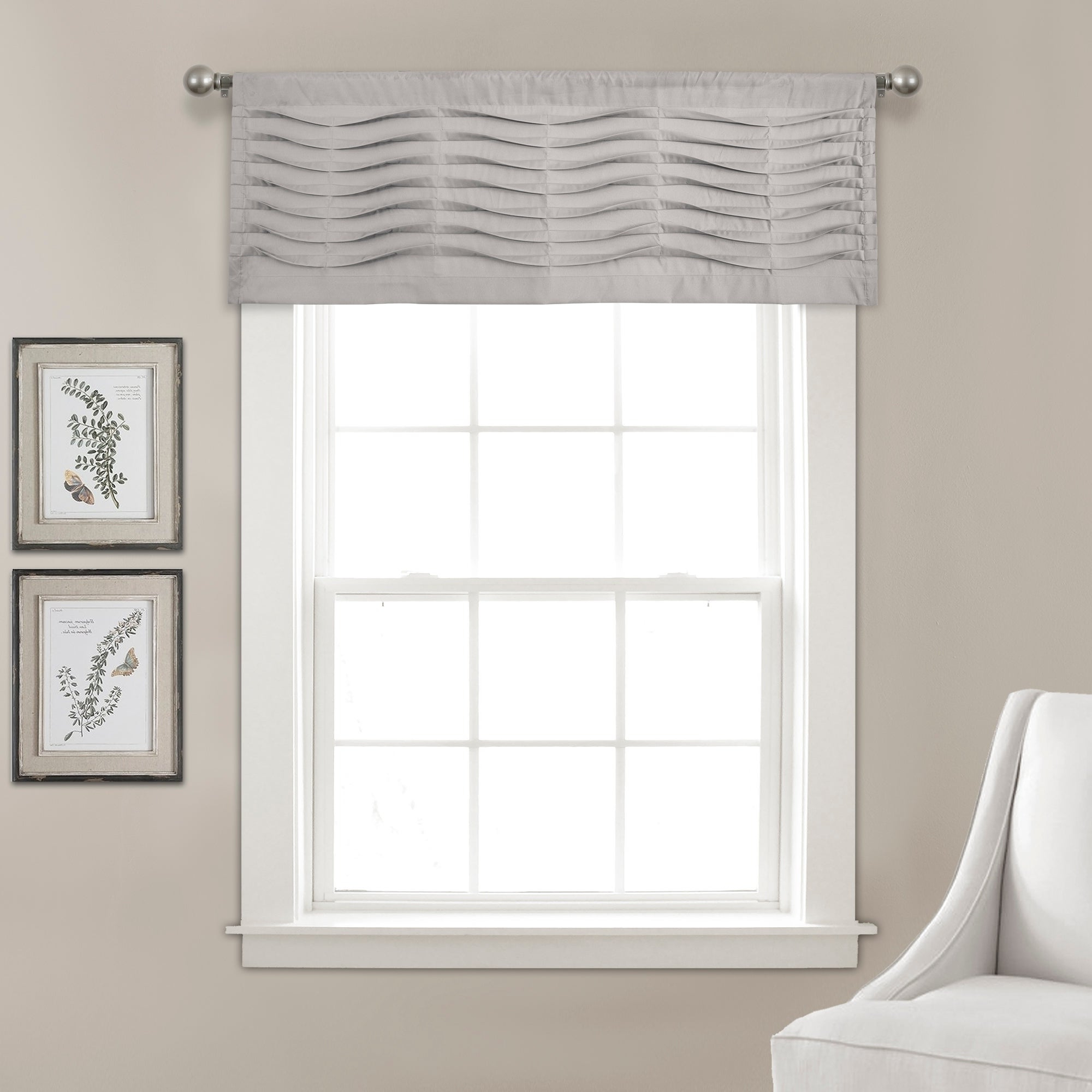 Latest Hudson Pintuck Window Curtain Valances Pertaining To Porch & Den Kinnaman Wave Texture Window Curtain Valance (View 20 of 20)