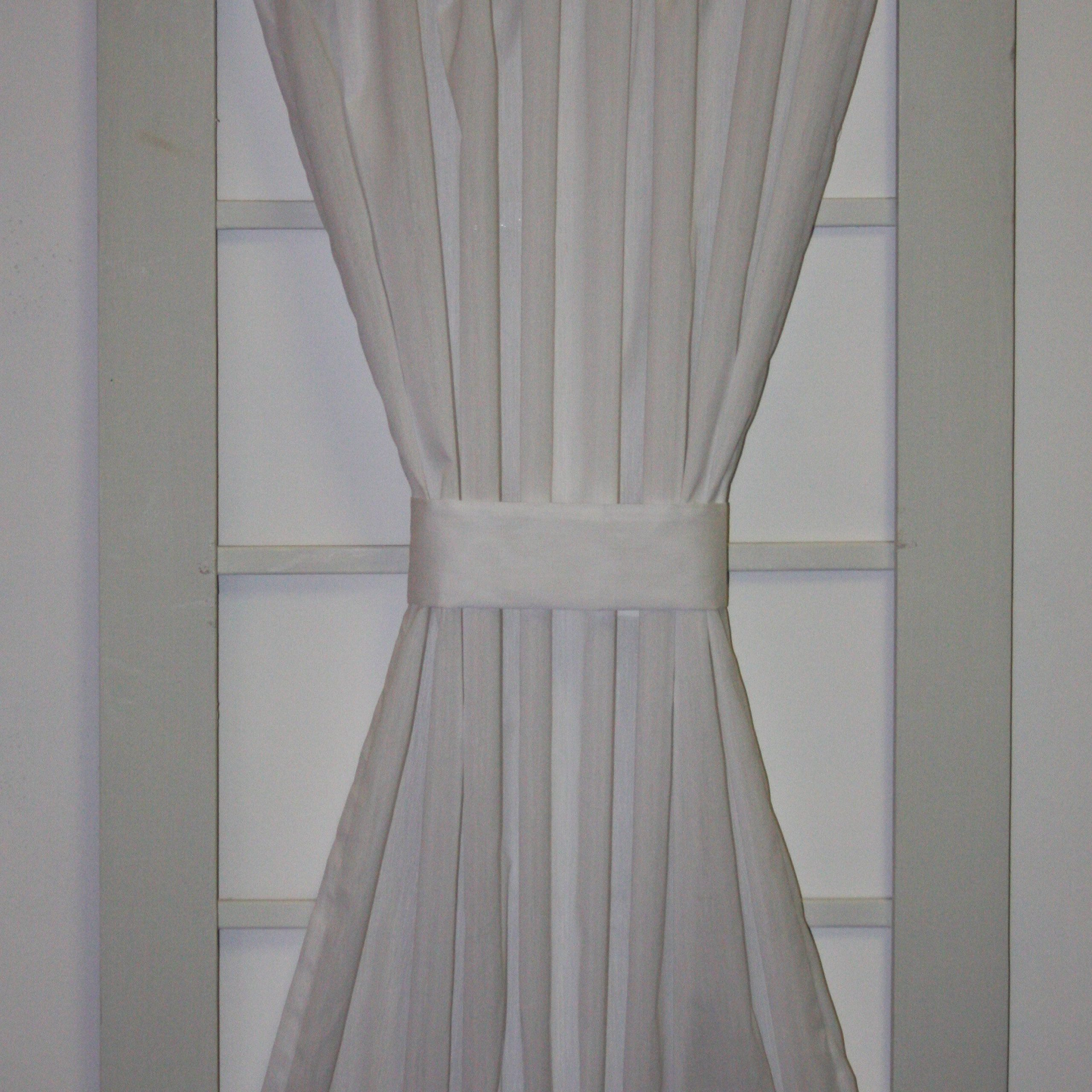 Latest Ivory Micro Striped Semi Sheer Window Curtain Pieces For August Grove Howerton Solid Door Panel Curtain (Gallery 12 of 20)