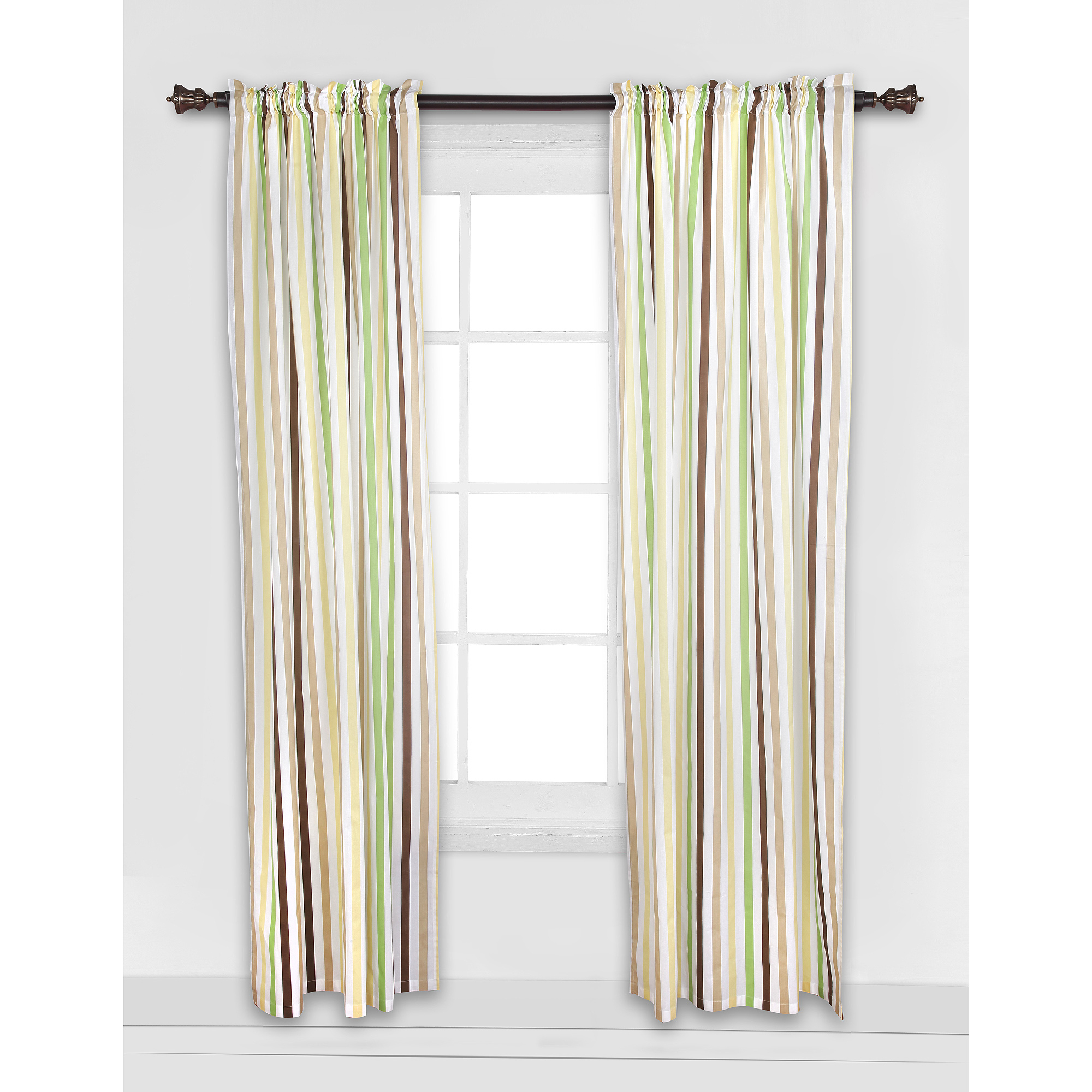 Latest Ivory Micro Striped Semi Sheer Window Curtain Pieces Intended For Bed Bath N More Ivory Micro Striped Semi Sheer Window Curtain Pieces –  Tiers, Valance And Swag Options (Gallery 13 of 20)