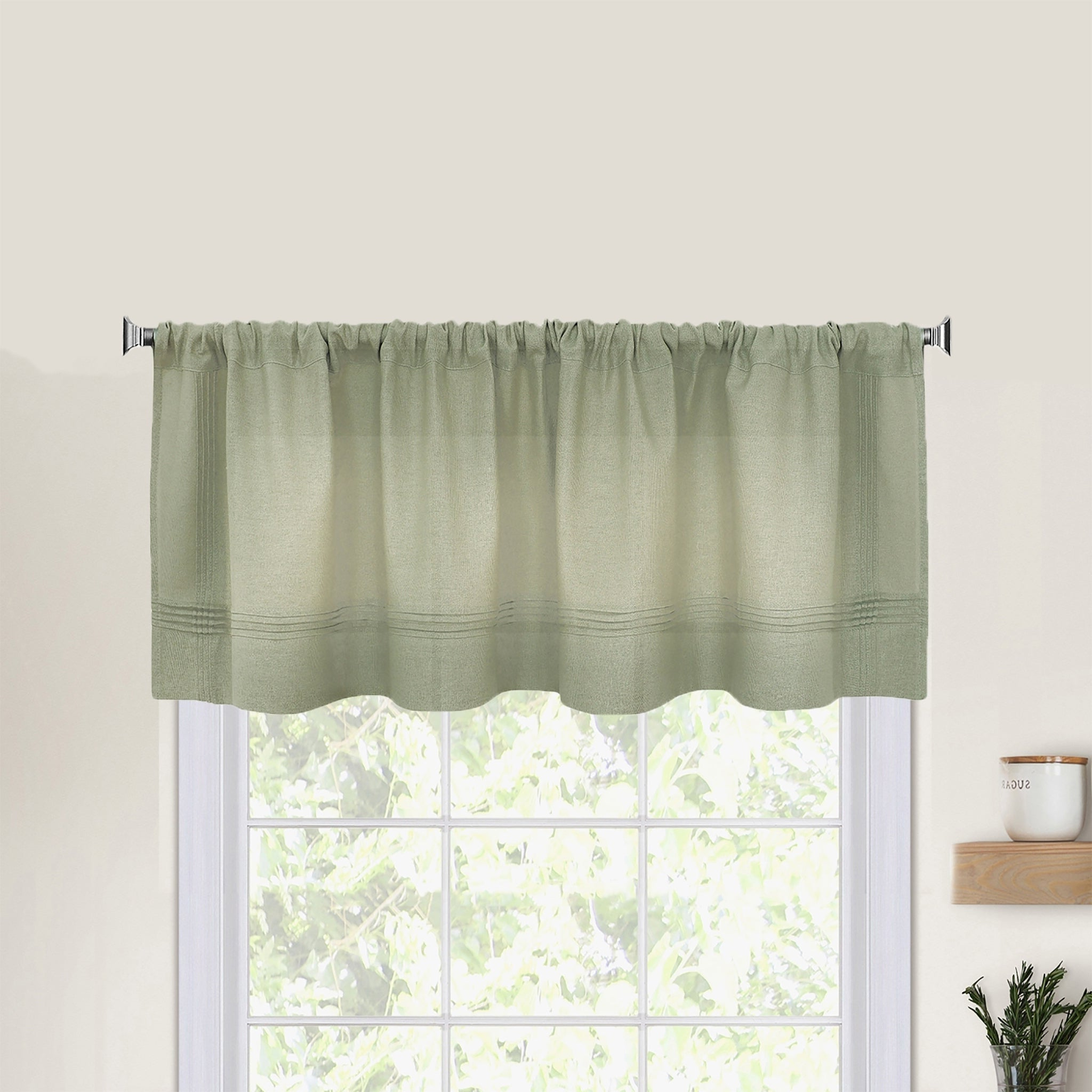Latest Pintuck Kitchen Window Tiers Intended For Pintuck Kitchen Window Valance (View 6 of 20)