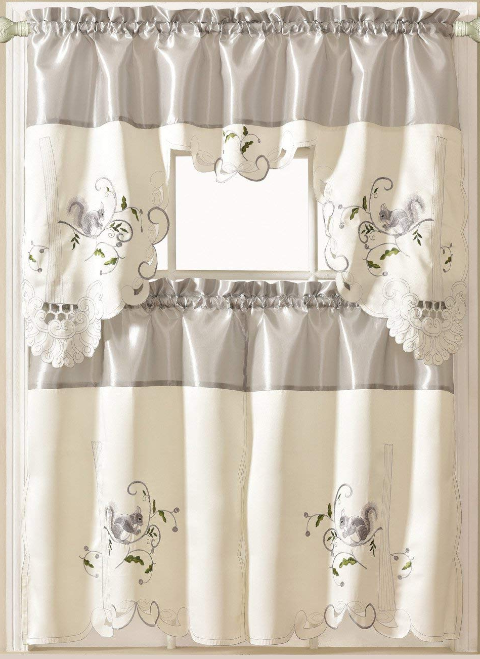 Latest Spring Daisy Tiered Curtain 3 Piece Sets With Regard To Cheap Kitchen Curtain Pictures, Find Kitchen Curtain (Gallery 19 of 20)