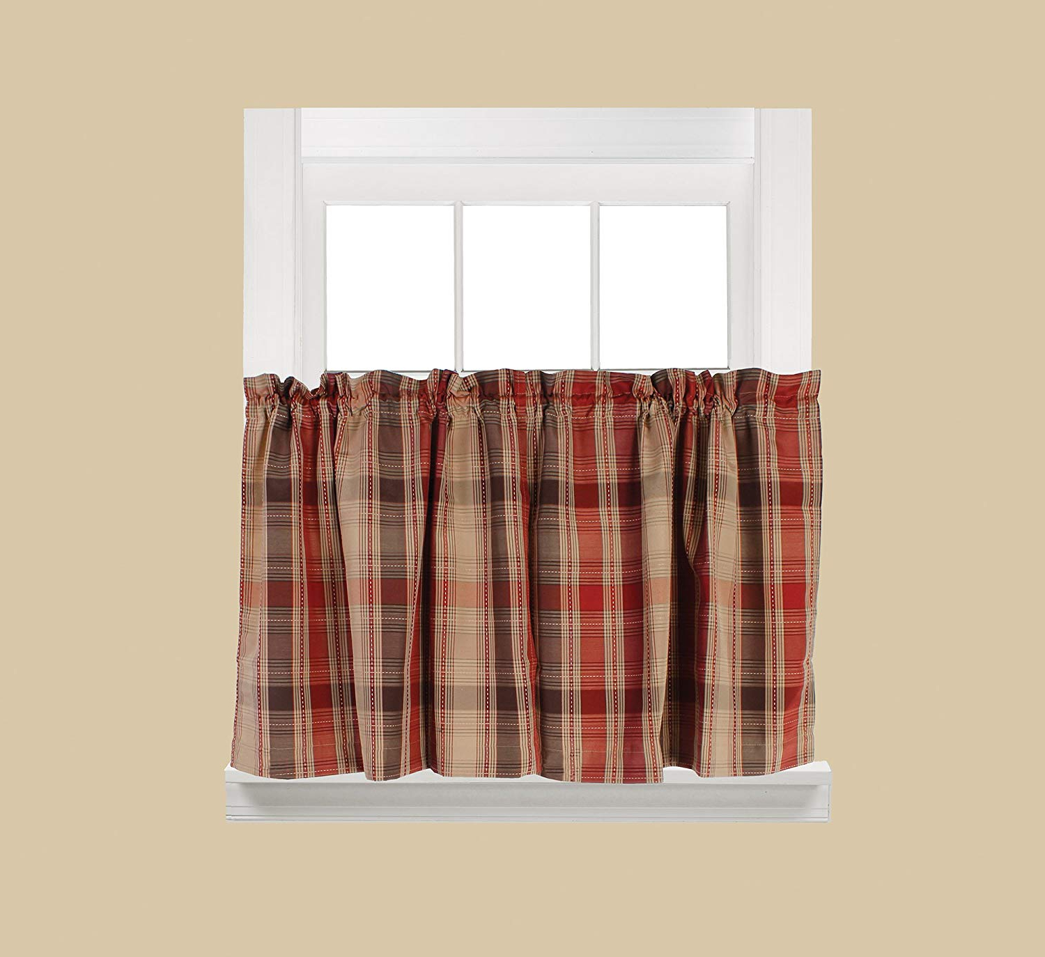 Latest Tranquility Curtain Tier Pairs Pertaining To Amazon: Skl Homesaturday Knight Ltd. Cooper Tier (Gallery 5 of 20)