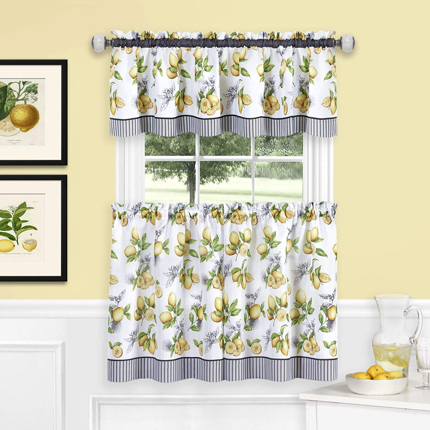 Featured Photo of Lemon Drop Tier And Valance Window Curtain Sets