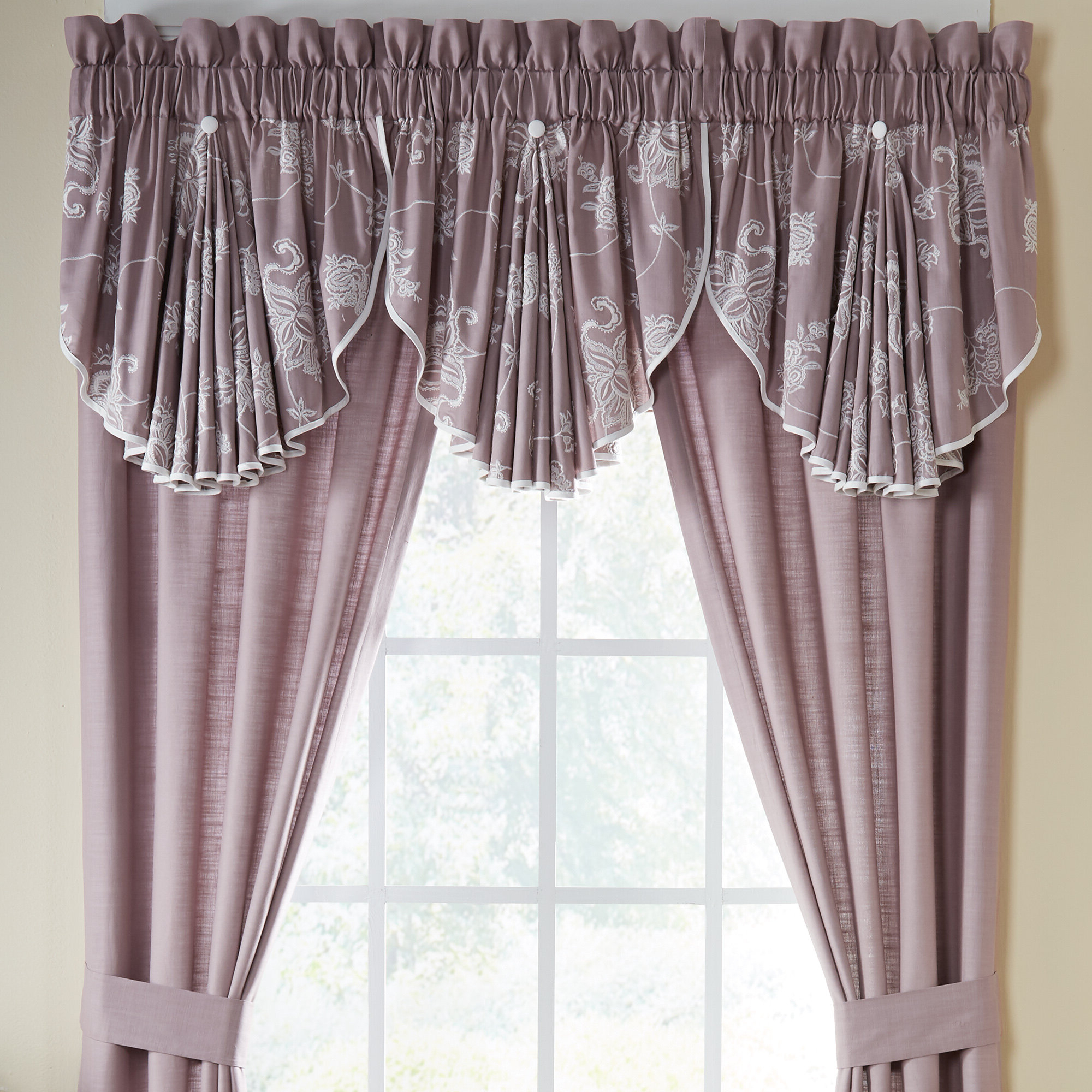 "Liliana Circle 42"" Window Valance Inside Most Up To Date Circle Curtain Valances (View 14 of 20)"
