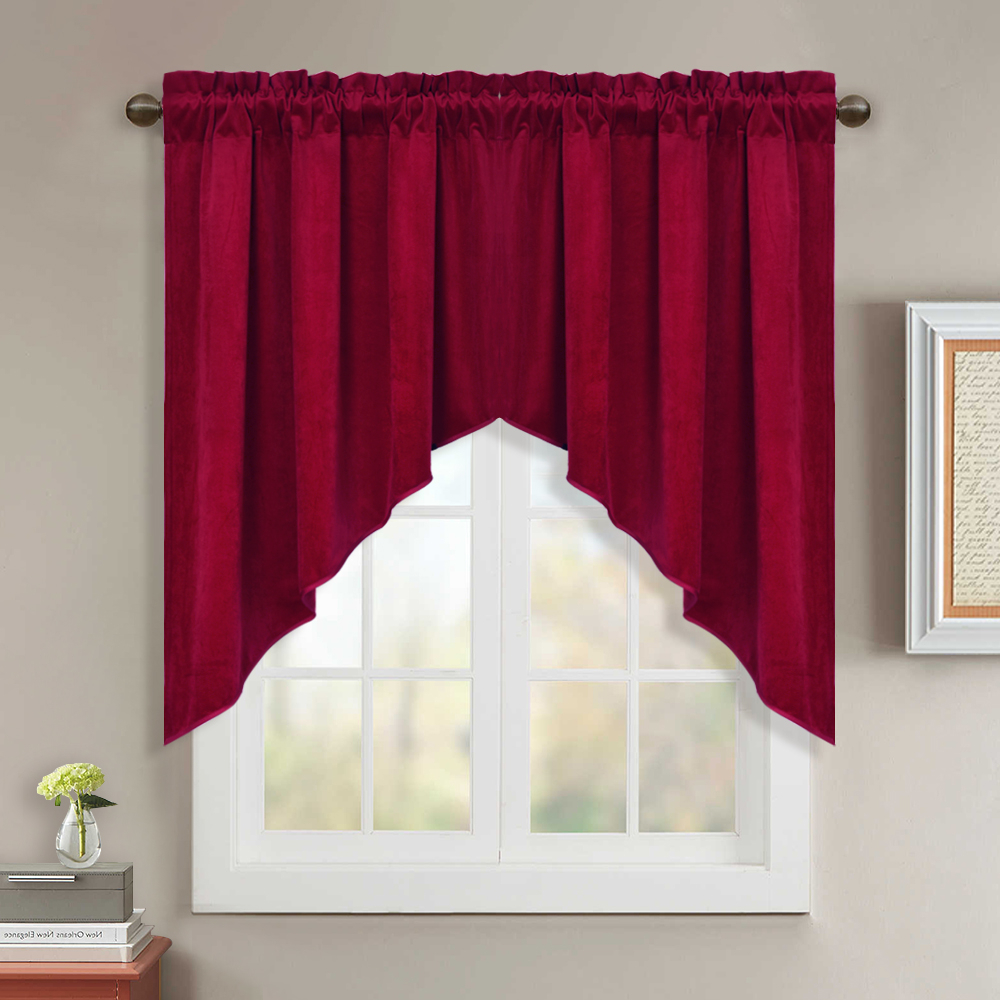Luxurious Kitchen Curtains Tiers, Shade Or Valances For Most Current Swag Curtains For Kitchen – Short Blackout Window Treatment Velvet Scalloped Tier Curtains / Valance Elegant Home Decor Drapes For Bedroom / (View 14 of 20)