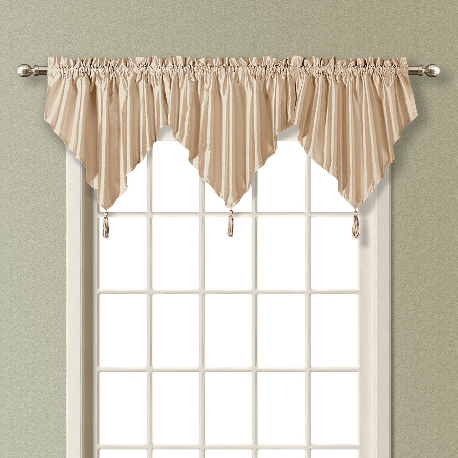 Luxury Collection Anna Light Filtering Ascot Valance In Widely Used Luxury Light Filtering Straight Curtain Valances (View 10 of 20)