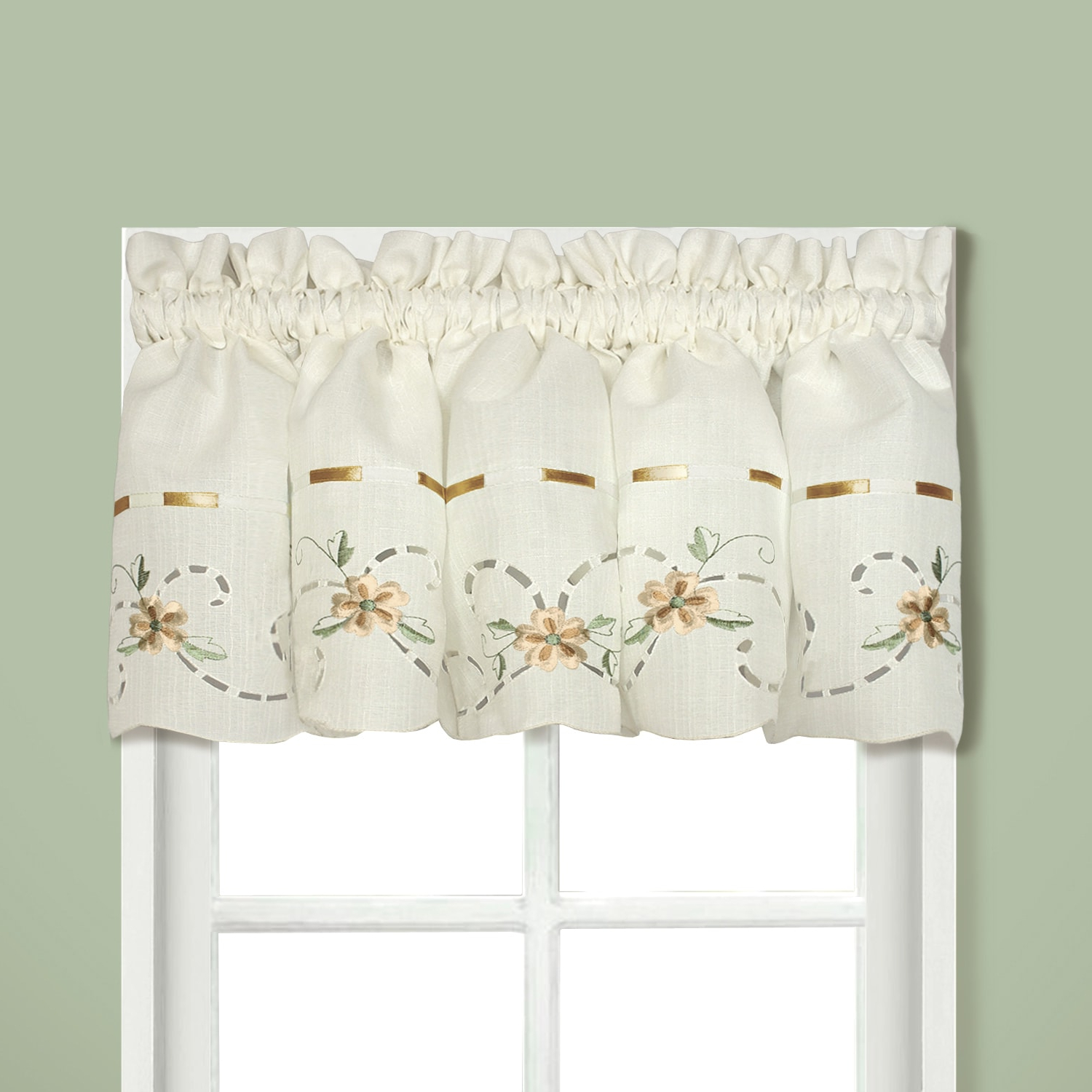 Luxury Collection Rachael Embroidered Florals With Ribbon Intended For Current Luxury Collection Kitchen Tiers (Gallery 10 of 20)