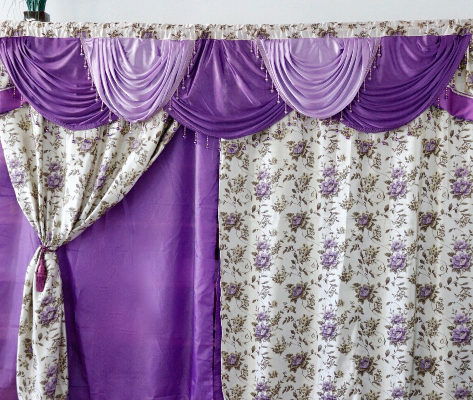 Luxury Größe Curtain Panel Window Floral Jacquard Super Pertaining To Most Current Luxury Light Filtering Straight Curtain Valances (View 17 of 20)