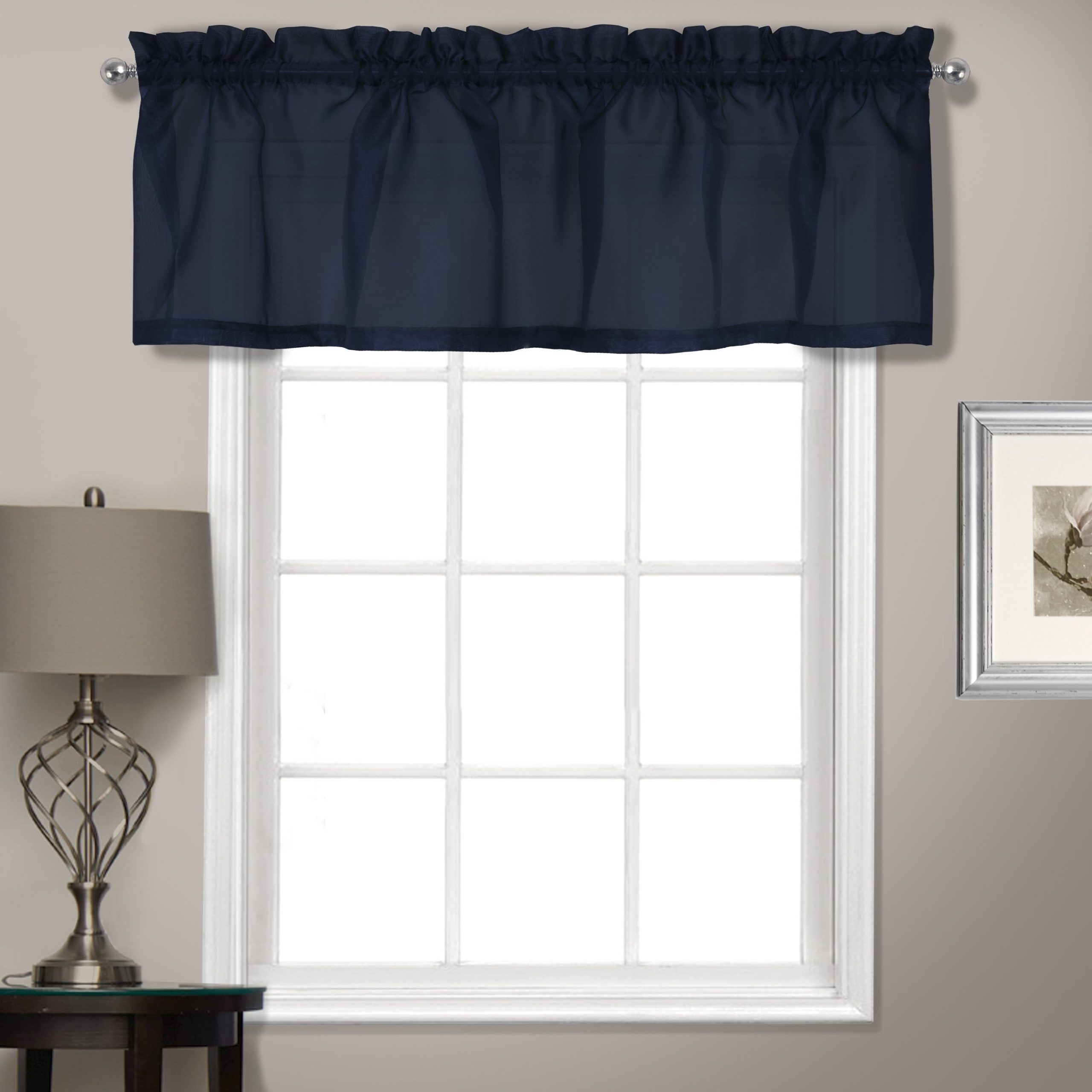 Luxury Light Filtering Straight Curtain Valances With Regard To Most Recently Released Luxury Collection Summit Sheer Straight Valance (View 5 of 20)