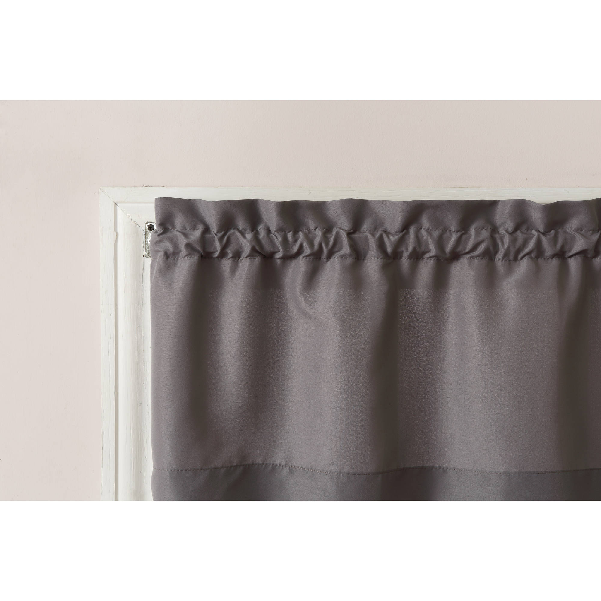 Mainstays Solid 3 Piece Kitchen Curtain Tier And Valance Set With Newest Solid Microfiber 3 Piece Kitchen Curtain Valance And Tiers Sets (Gallery 18 of 20)