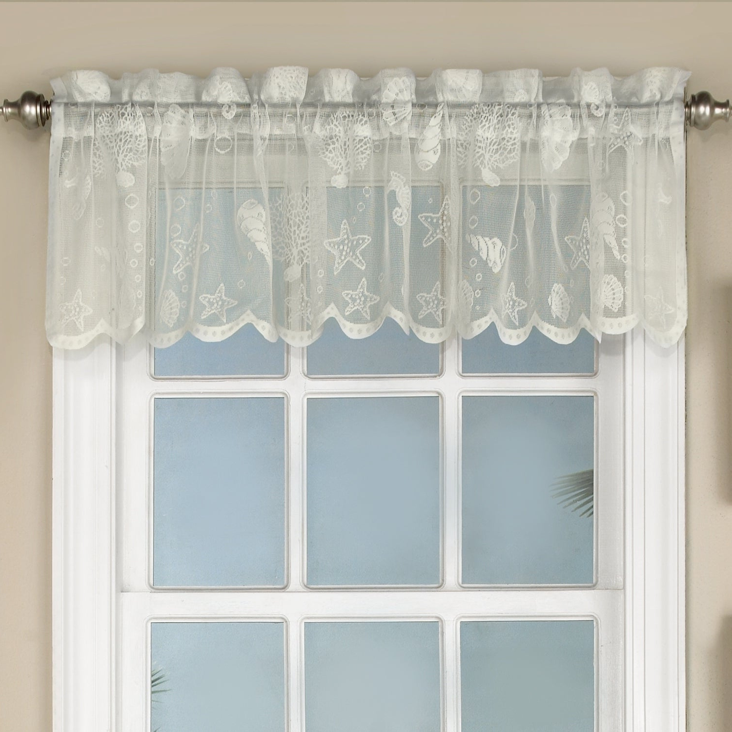 Marine Life Motif Knitted Lace Window Curtain Pieces With Favorite Marine Life Motif Knitted Lace Window Curtain Pieces (Gallery 3 of 20)
