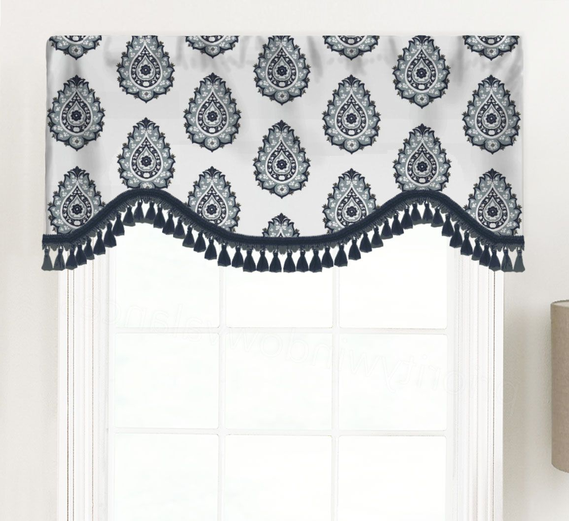Medallion Window Curtain Valances Pertaining To Current Damask (Floral Medallion Print) Shaped Valance Curtain (Gallery 4 of 20)