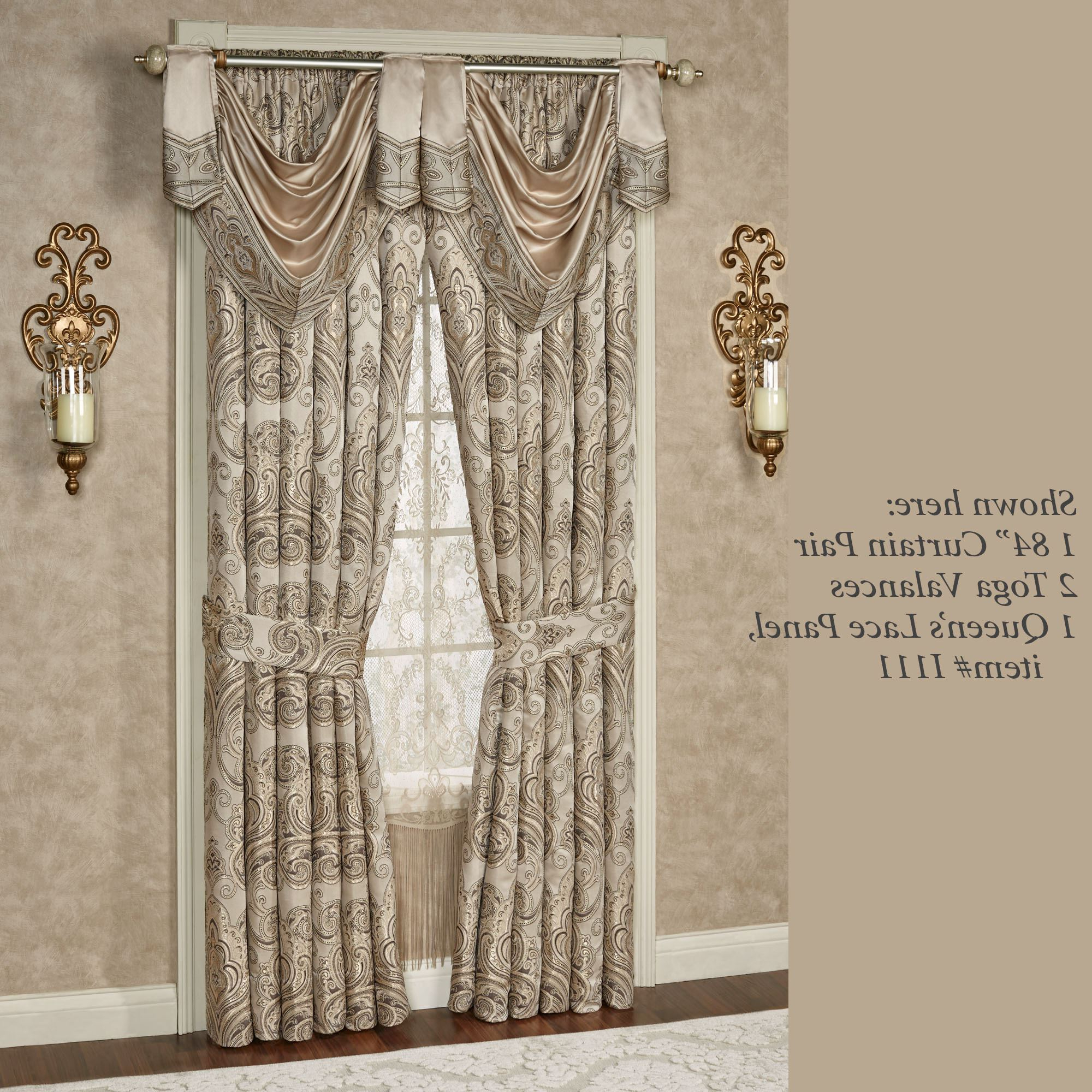Medallion Window Curtain Valances Pertaining To Recent Set Bay For Valances Lace Valance Curtains Diy Pattern (Gallery 19 of 20)