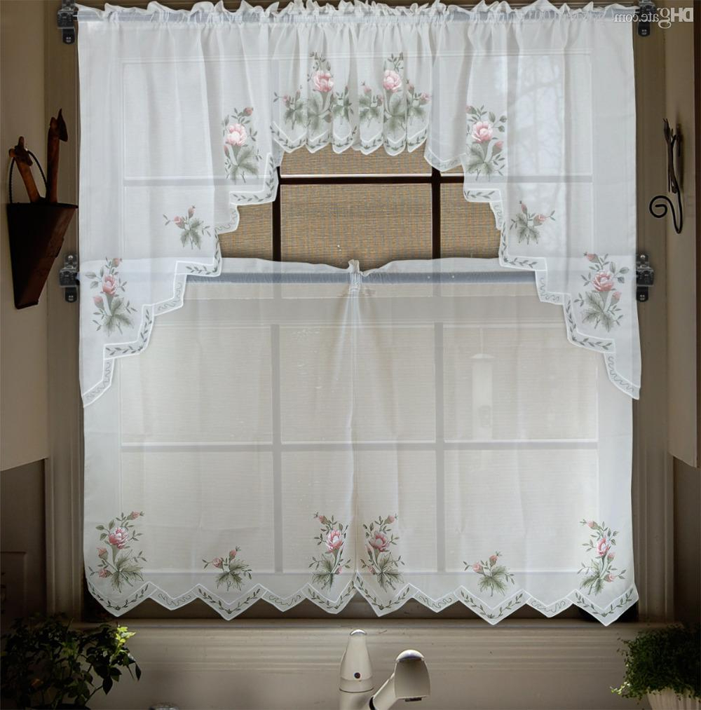 Modern Kitchen Curtains Styles Modern Kitchen Good Curtains Within Popular Floral Embroidered Sheer Kitchen Curtain Tiers, Swags And Valances (Gallery 16 of 20)