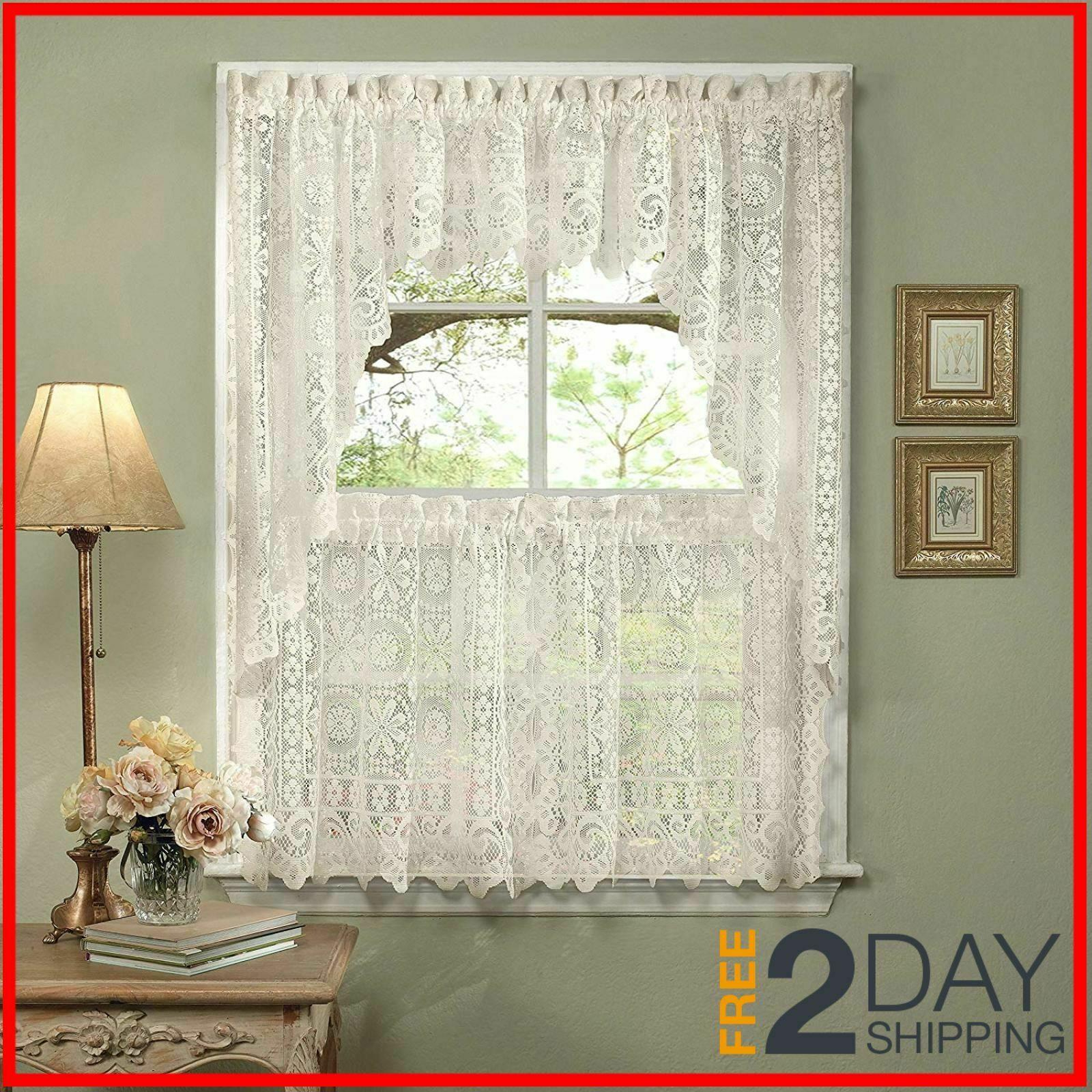 Most Current 5 Pc Kitchen Curtain Set, Swag Pair, Val Throughout Embroidered 'coffee Cup' 5 Piece Kitchen Curtain Sets (View 5 of 20)