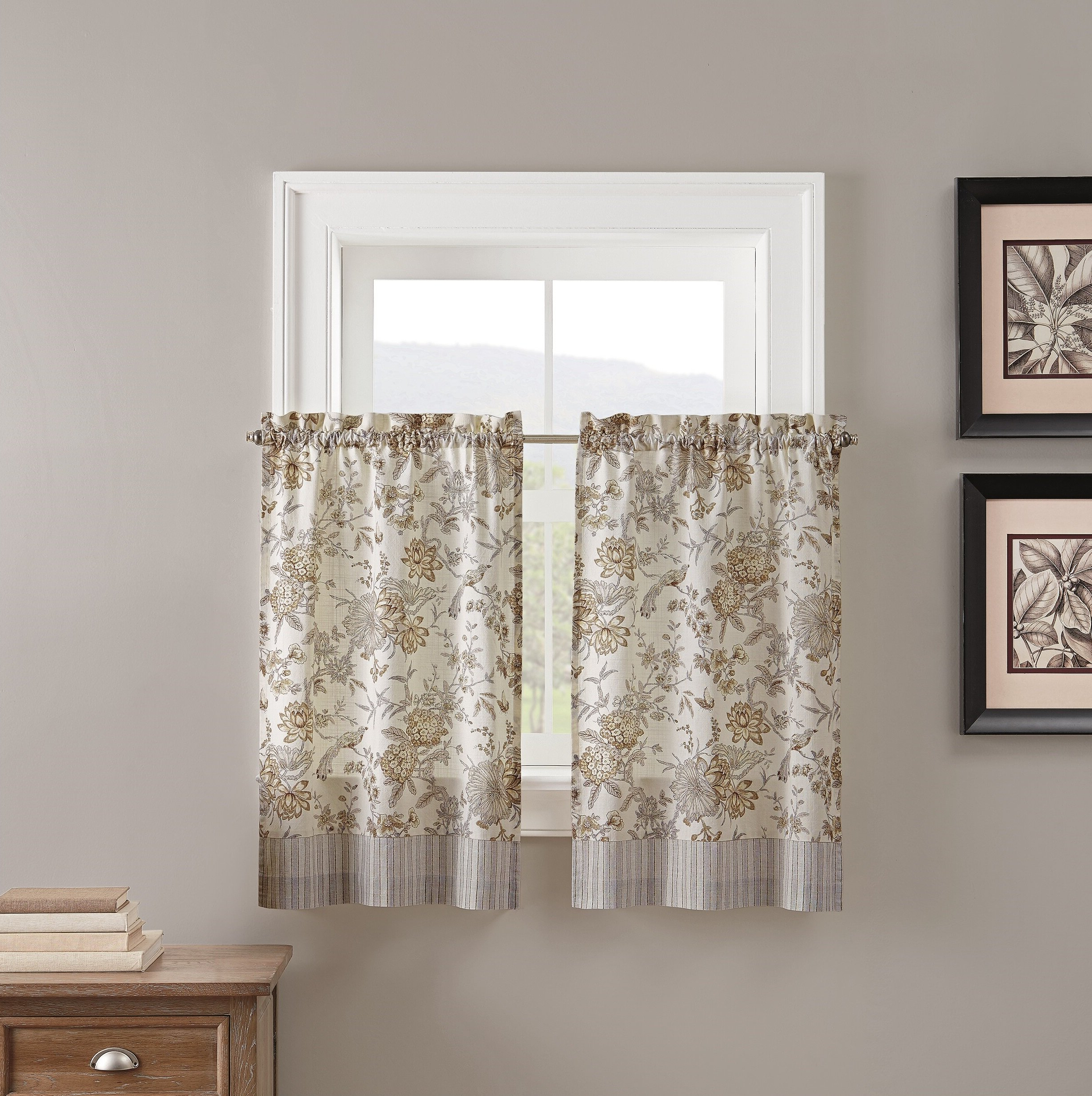 Most Current Lucchese Kitchen Curtain In Waverly Kensington Bloom Window Tier Pairs (Gallery 12 of 20)
