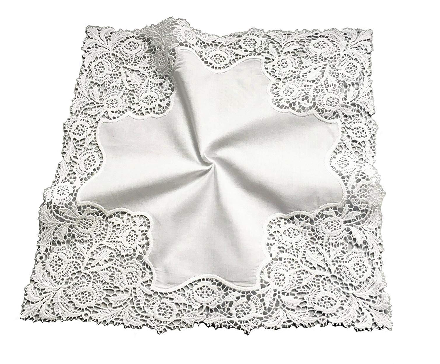 Most Popular Cotton Classic Toast Window Pane Pattern And Crotchet Trim Tiers Inside Mybutterflybasket Floral Wedding Crochet Embroidery Lace Handkerchief For Bride & Ladies/white,a (View 16 of 20)