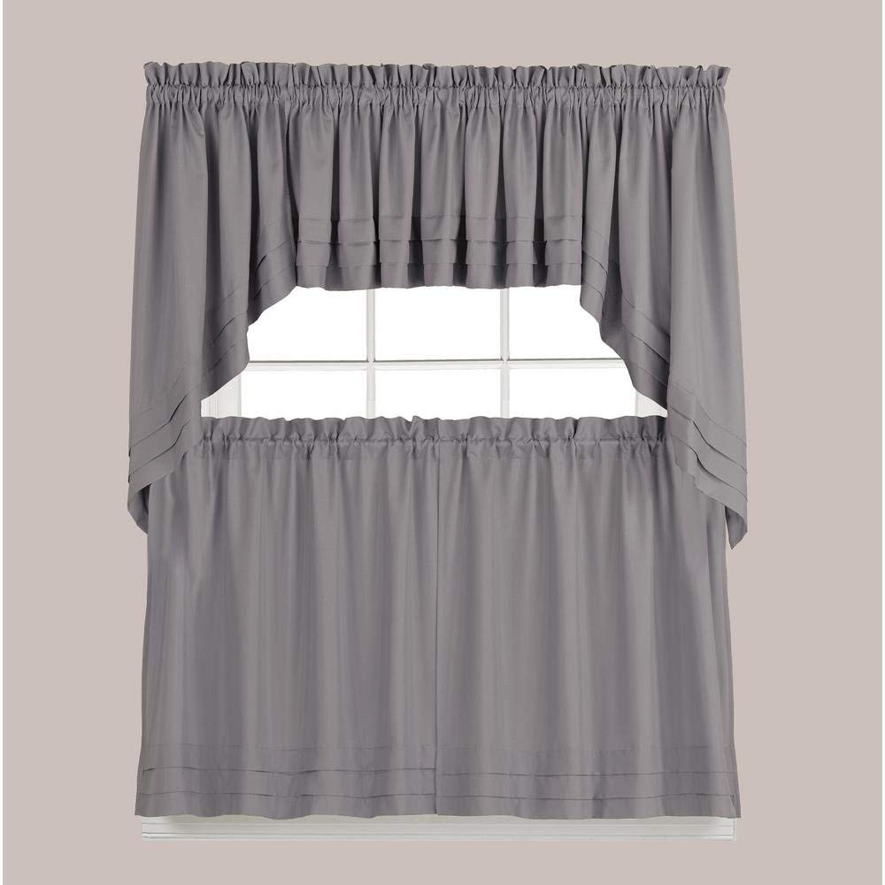 Most Popular Dove Gray Curtain Tier Pairs Inside Skl Home Holden Tier Curtain Pair, Dove Gray, 57 Inches X 24 Inches (View 9 of 20)