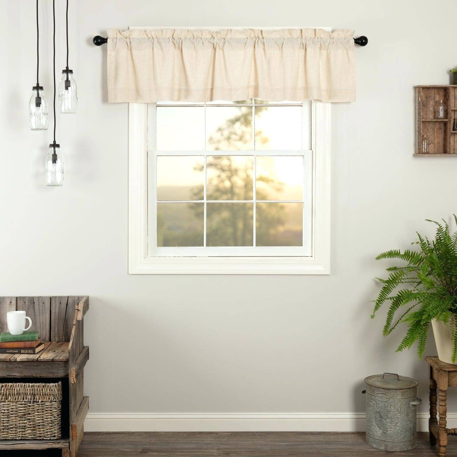 Most Popular Red Rustic Kitchen Curtains Regarding Farmhouse Valance Rustic Valances Modern Window For Kitchen (Gallery 10 of 20)