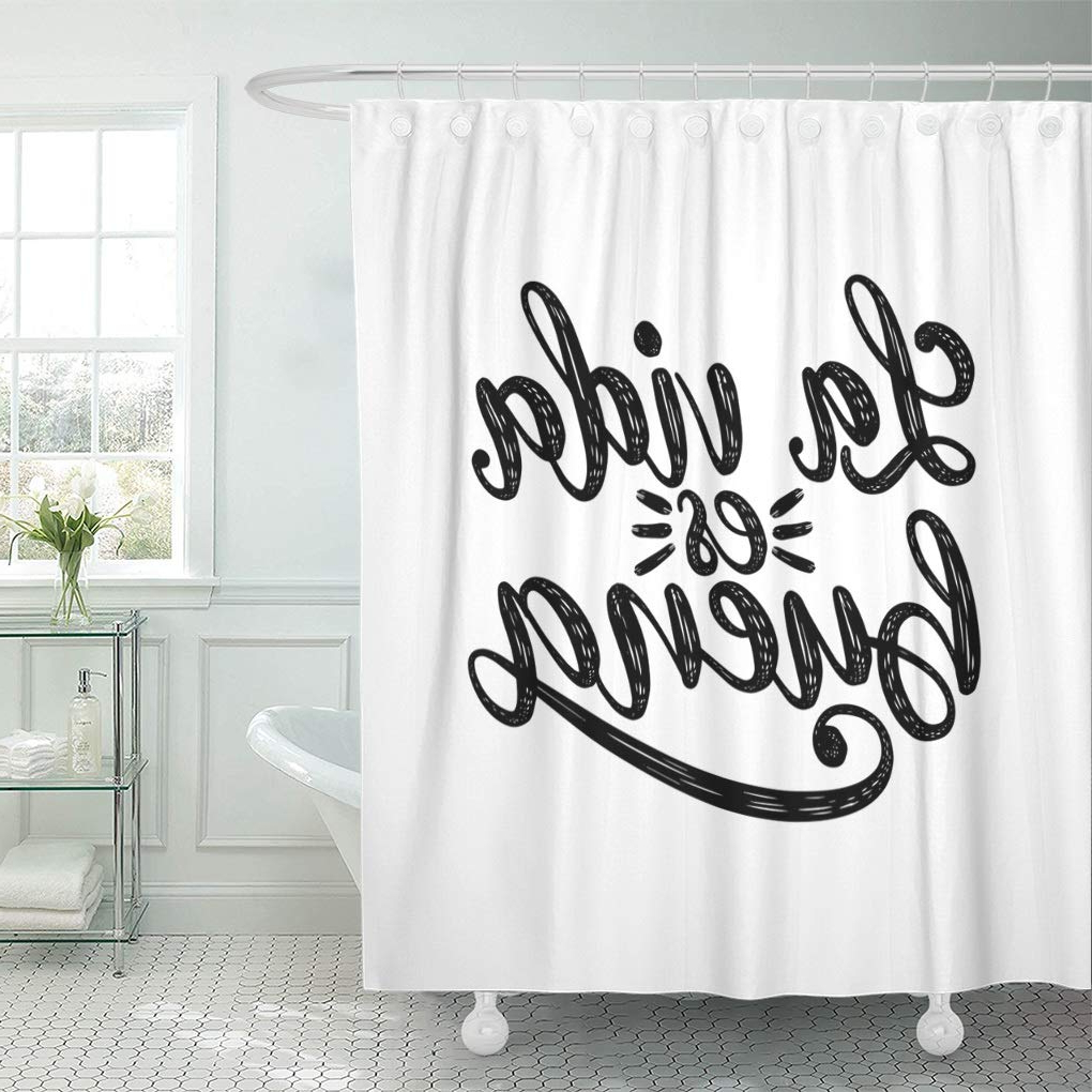 Most Recent Amazon: Emvency Waterproof Fabric Shower Curtain Hooks With La Vida Window Curtains (Gallery 5 of 20)