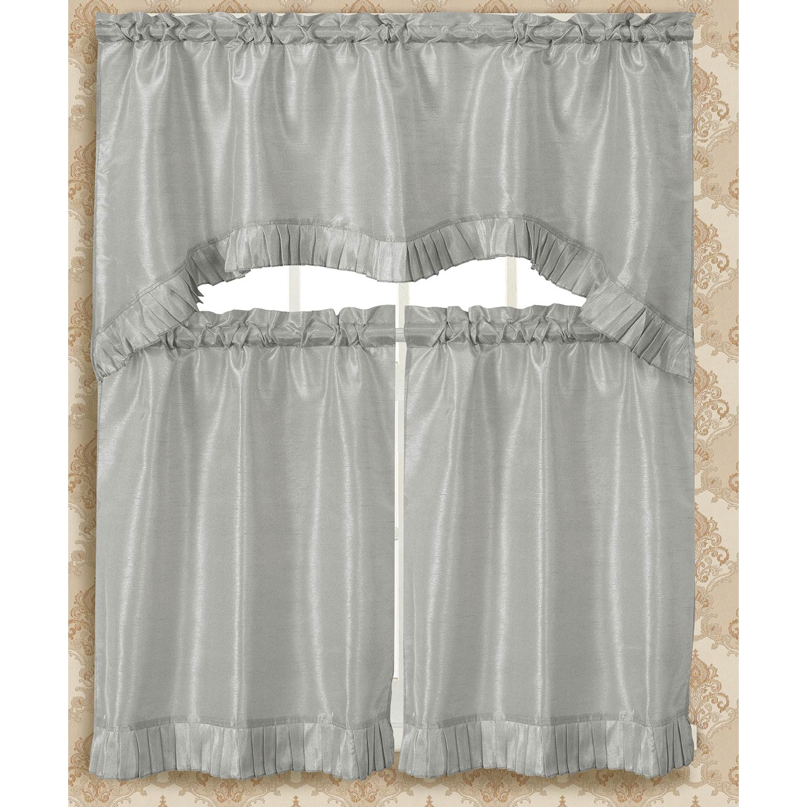 Most Recent Bermuda Ruffle Kitchen Curtain Tier Set With Bermuda Ruffle Kitchen Curtain Tier Sets (Gallery 4 of 20)