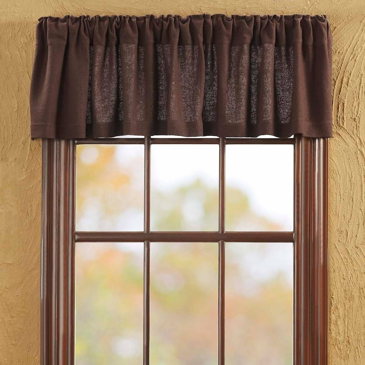 Most Recent Rod Pocket Cotton Striped Lace Cotton Burlap Kitchen Curtains Pertaining To Decorating Exciting Burlap Valance Curtains Yard Kitchen (View 16 of 20)
