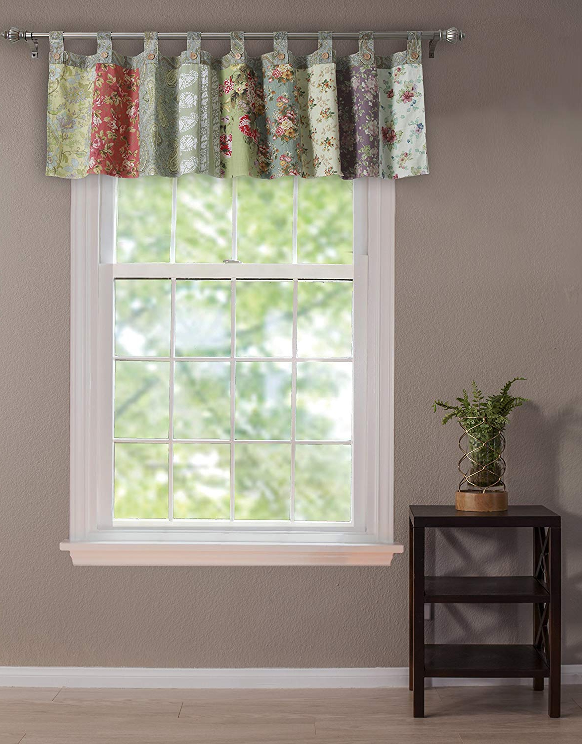 Most Recently Released Class Blue Cotton Blend Macrame Trimmed Decorative Window Curtains With Gorgeous Valances Window Treatments – Recipes With More (Gallery 15 of 17)