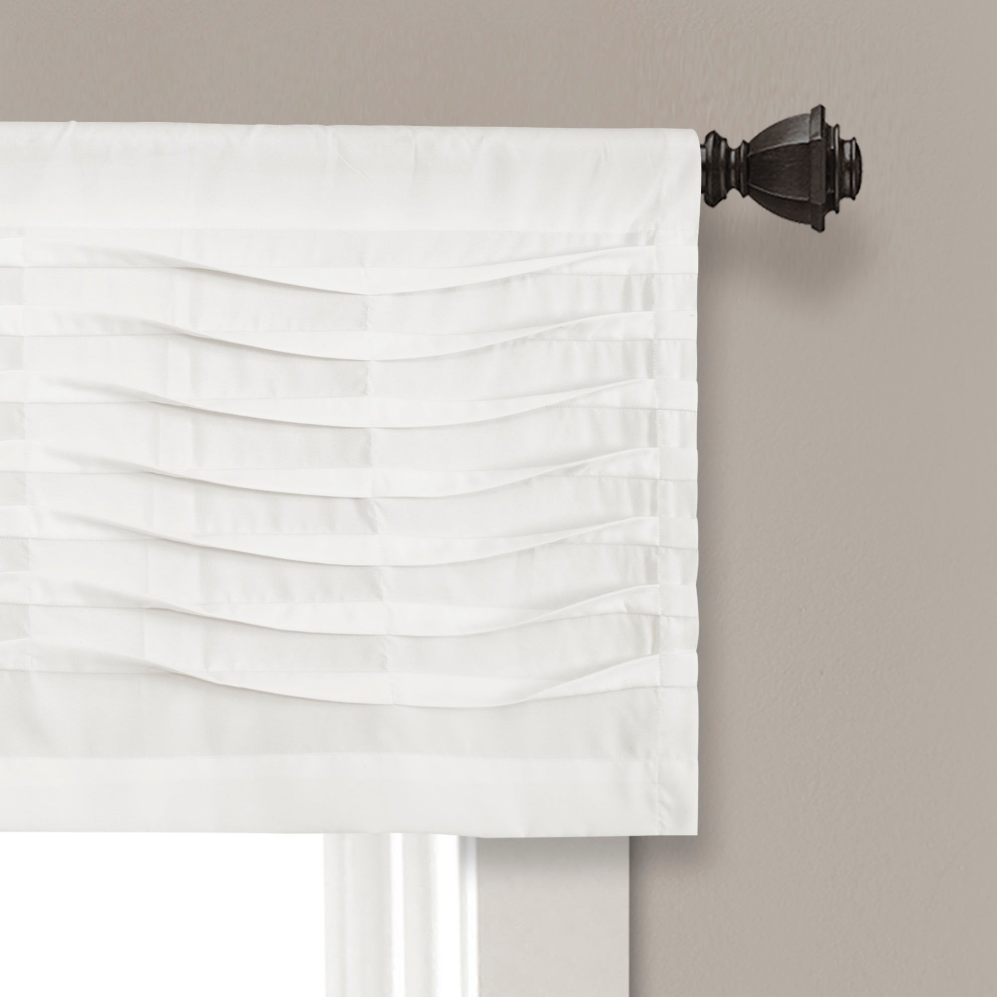 Most Recently Released Details About Porch & Den Kinnaman Wave Texture Window Curtain Valance Regarding Porch & Den Lorentz Silver 24 Inch Tier Pairs (View 11 of 20)