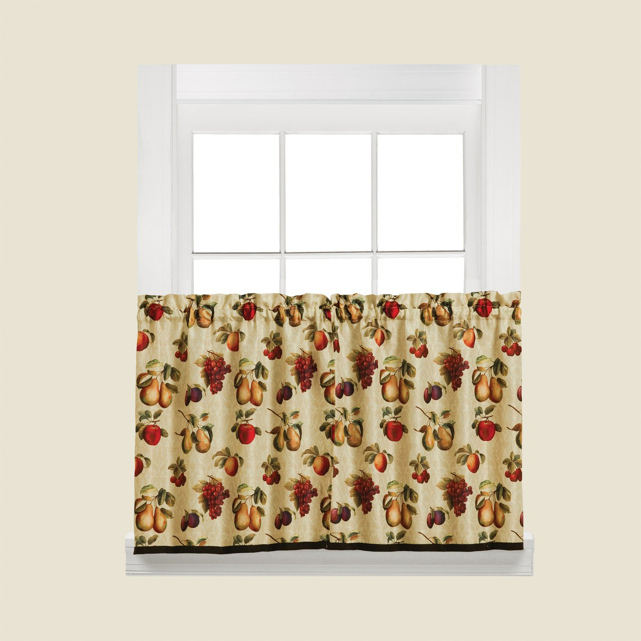 """Most Recently Released Fruits Du Marche Curtain – 36"""" Tier With Seabreeze 36 Inch Tier Pairs In Ocean (View 9 of 20)"""