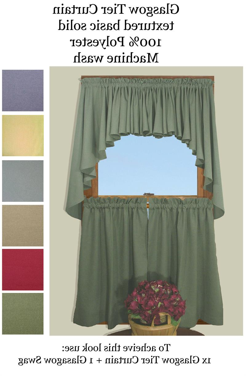 Most Recently Released Ultra Fullness Glasgow Tier Curtains (View 5 of 20)