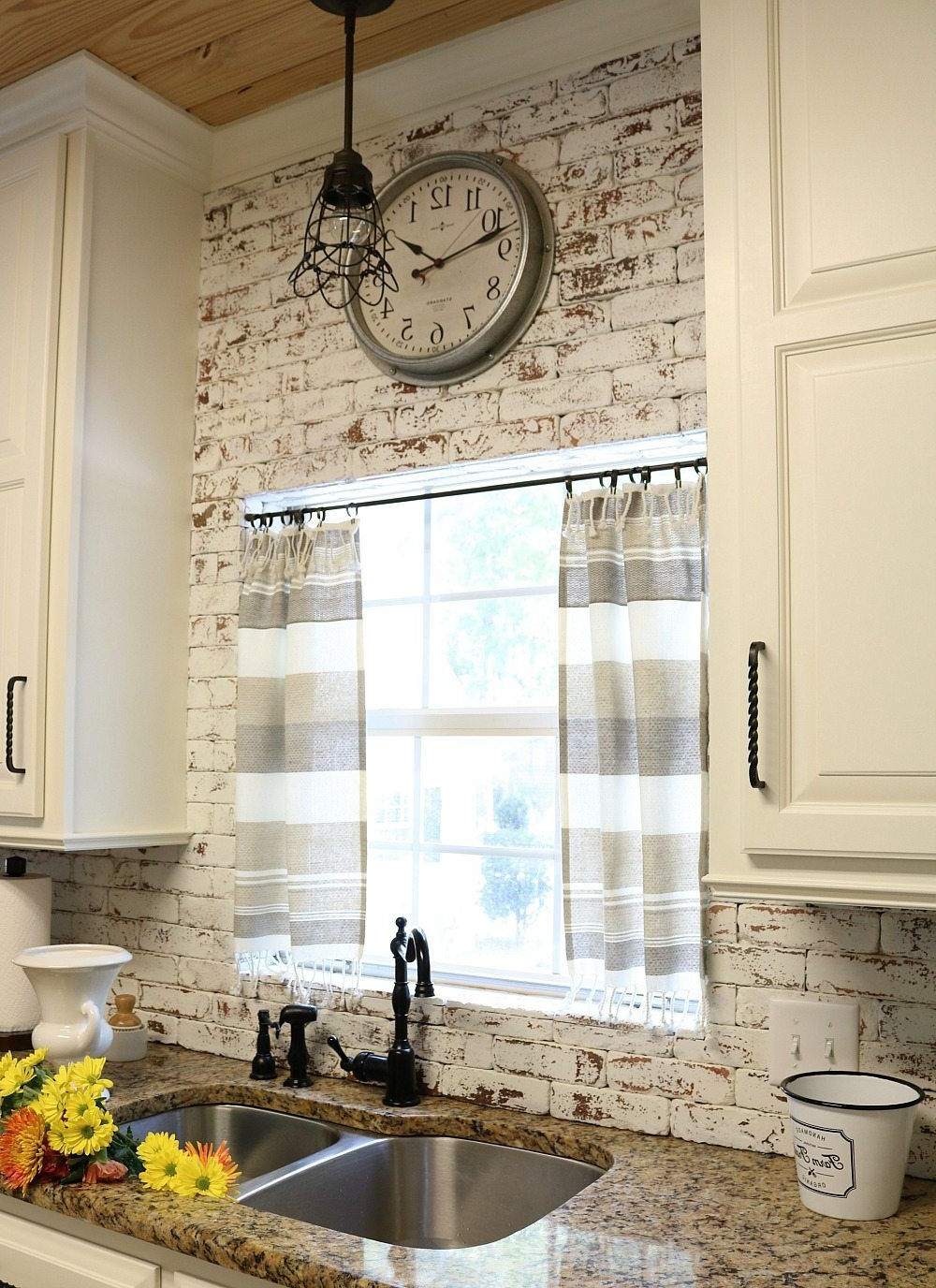 Most Up To Date Rustic Kitchen Curtains Pertaining To Dishtowel Curtains (Gallery 8 of 20)