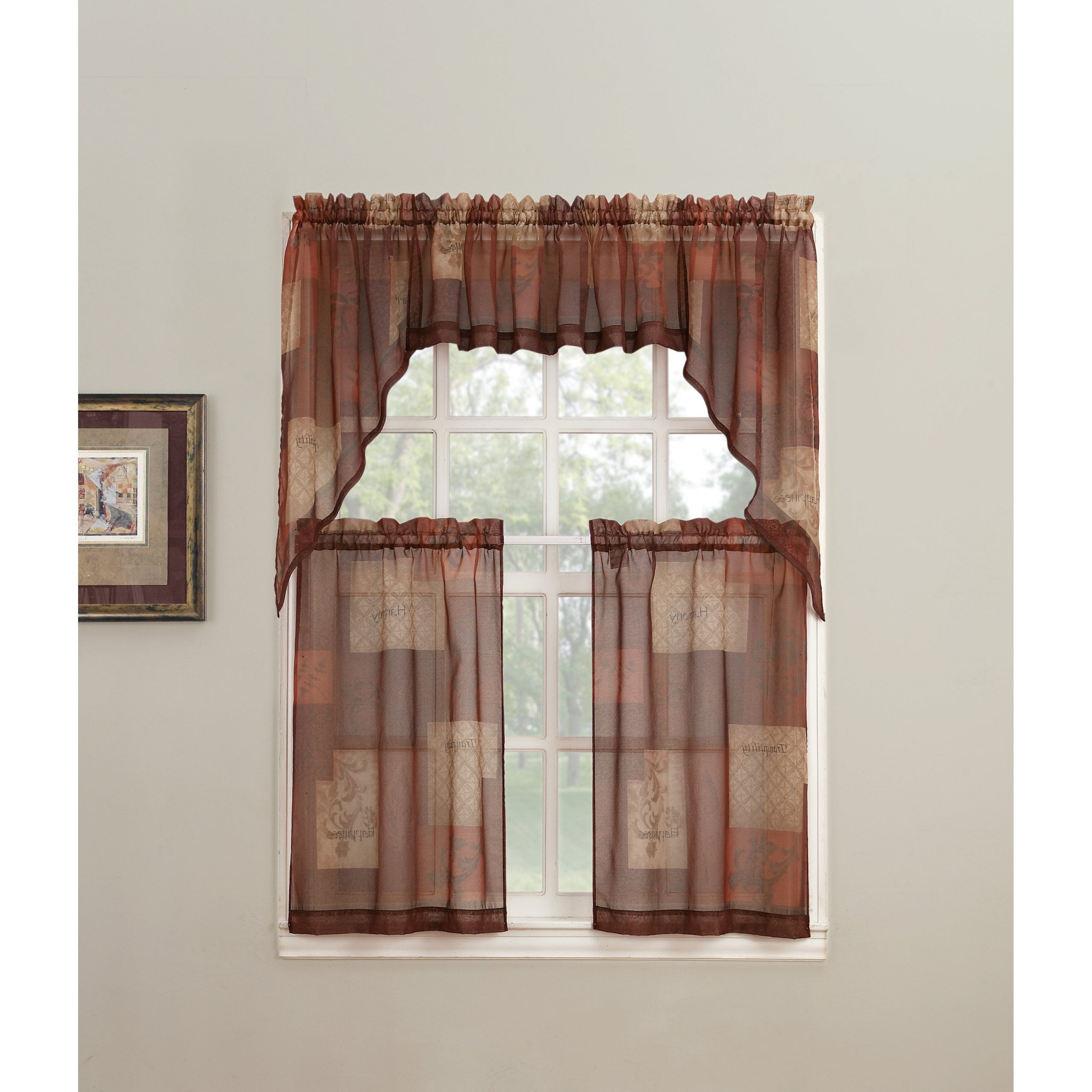 Most Up To Date Tranquility Curtain Tier Pairs For No. 918 Eden Rod Pocket Window Tier (Pair) (Gallery 12 of 20)