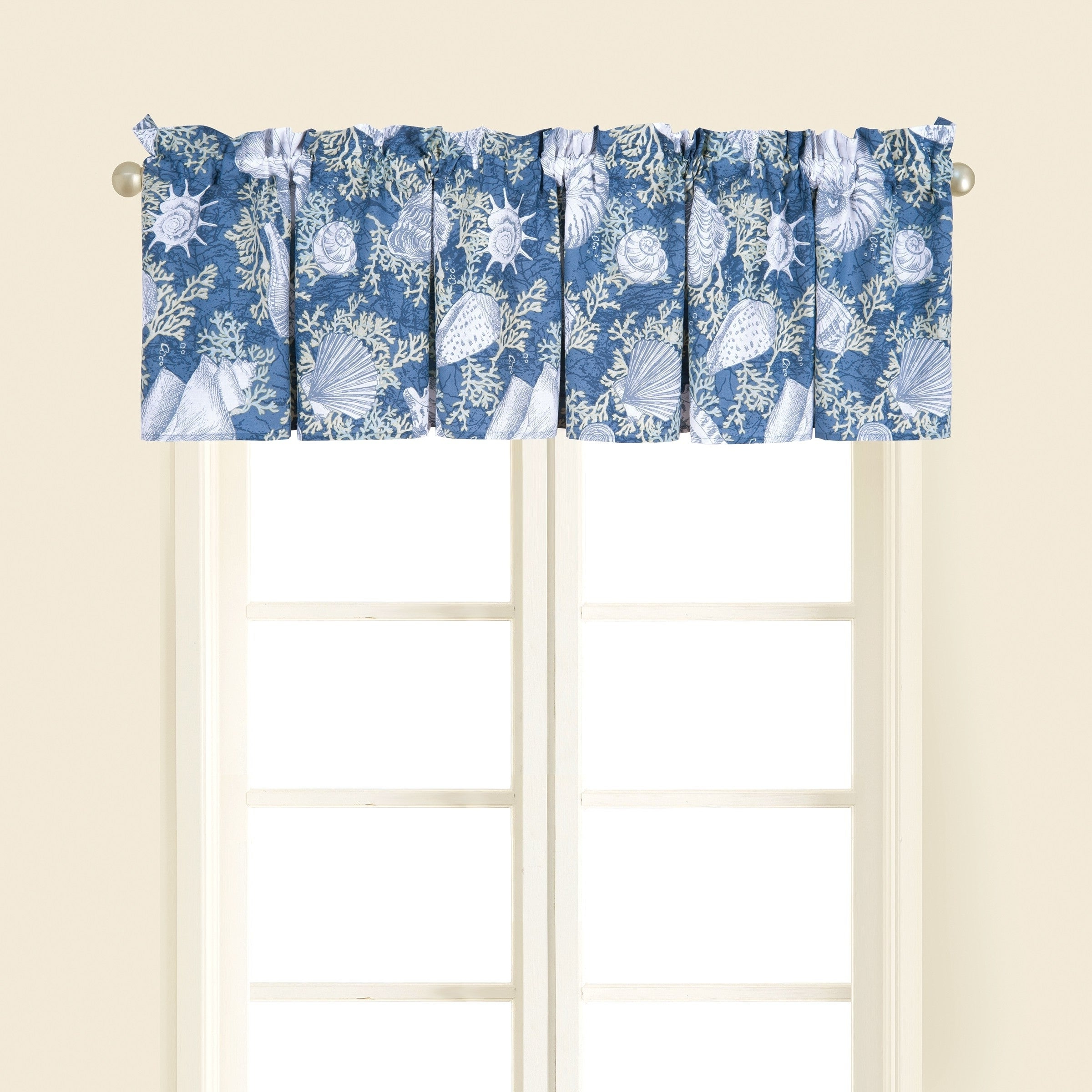 Newest Coastal Tier And Valance Window Curtain Sets In Details About Window Curtain Valance Nautical Beach Coastal Set 2 Cape Coral Decor Gift New (View 14 of 20)