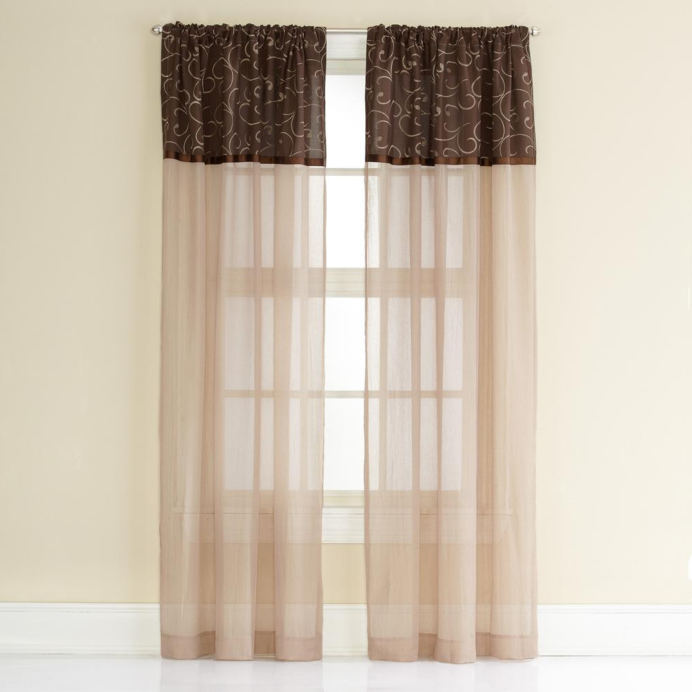 Newest Elegant Crushed Voile Ruffle Window Curtain Pieces With Regard To Westgate Poletop Panel 50 In. W X 84 In (View 19 of 20)