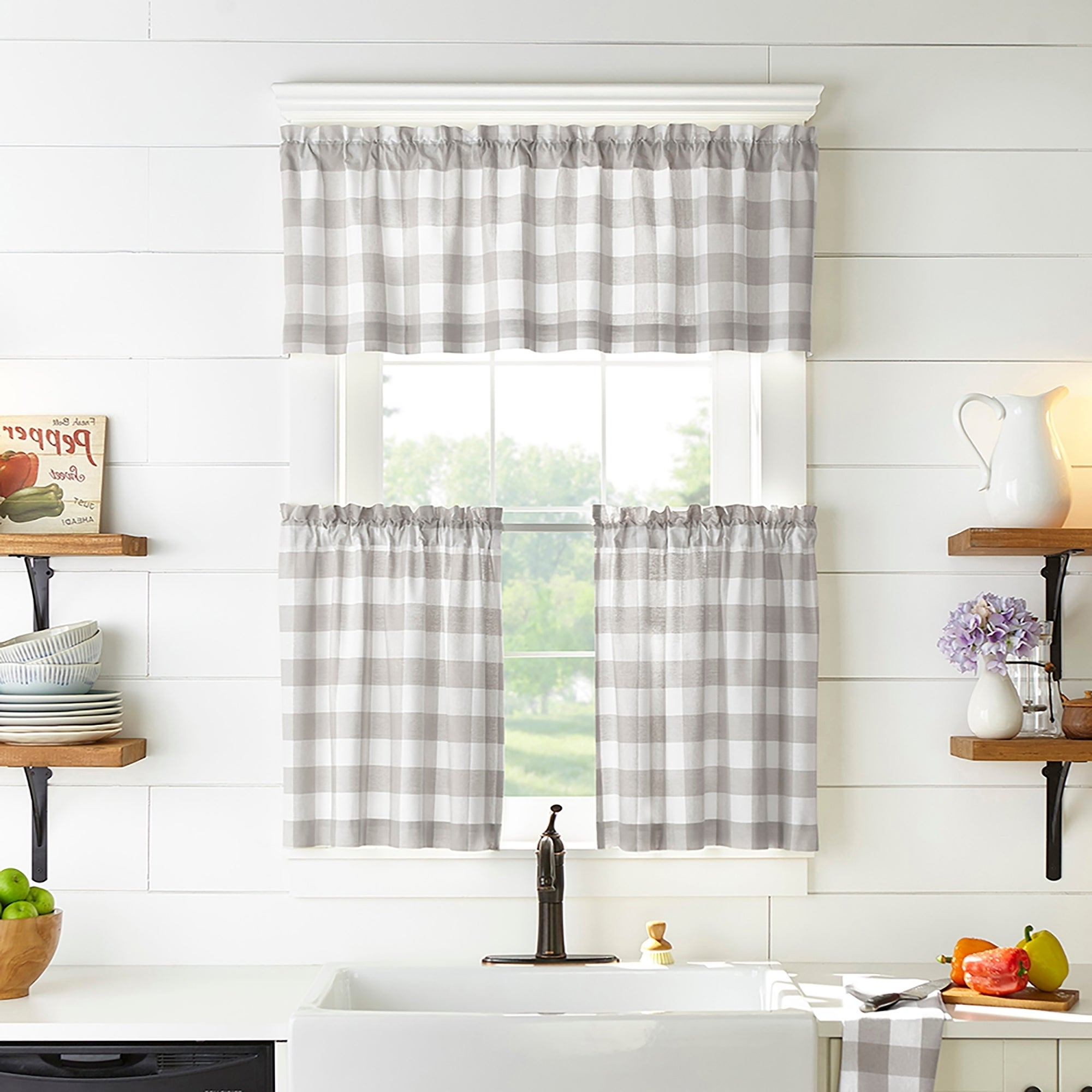 Newest Flinders Forge 30 Inch Tiers In Dove Grey For Buy The Gray Barn Curtain Tiers Online At Overstock (View 9 of 20)
